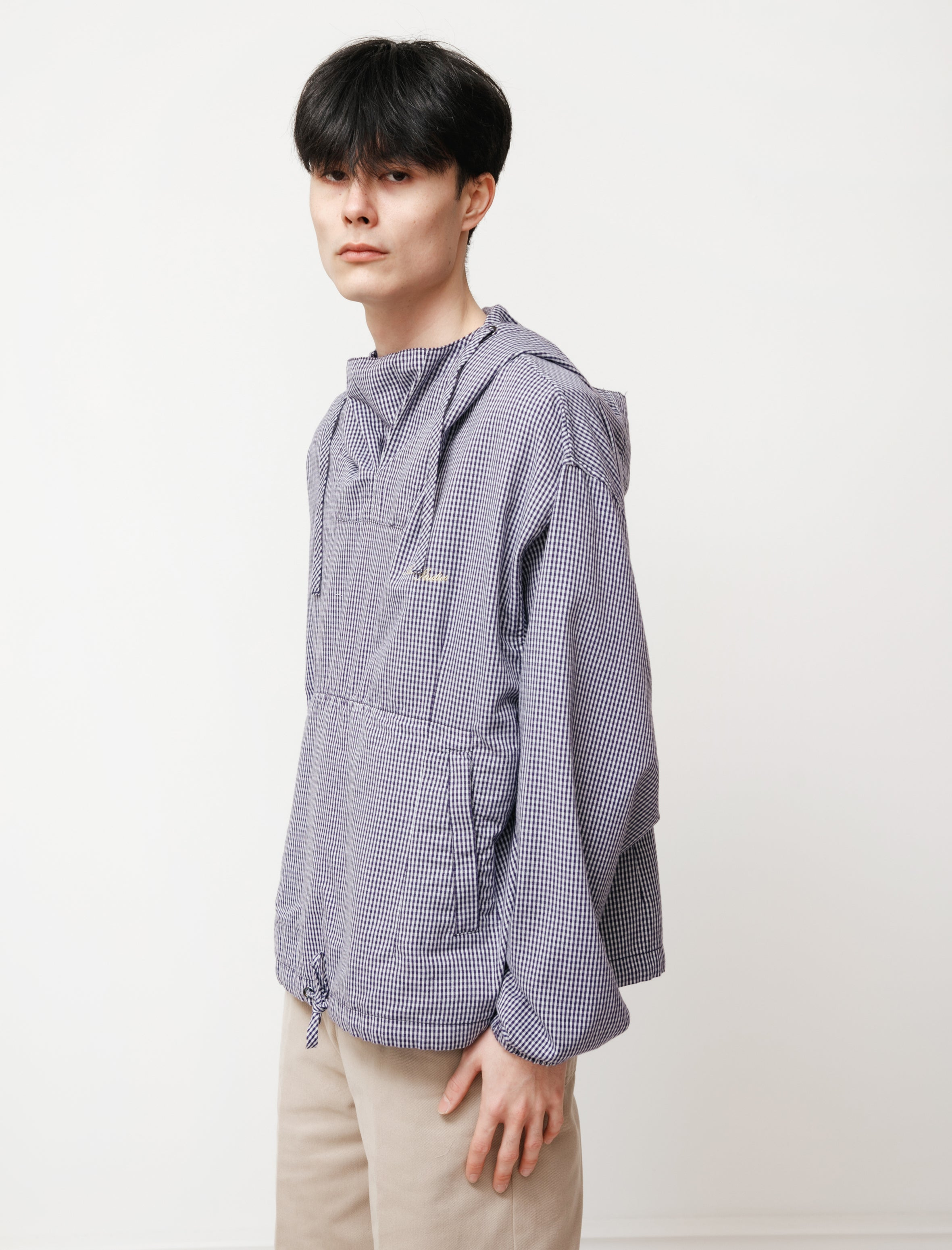 acne studios Anorak Gingham Navy/Pale Green