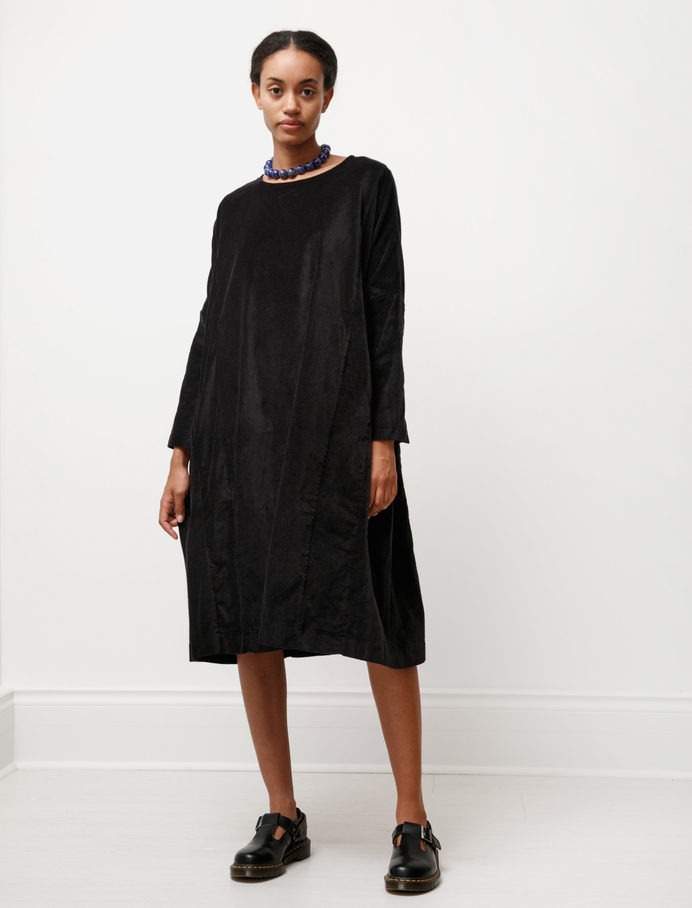 Casey Casey Pyj Rouch Dress Velvet Black