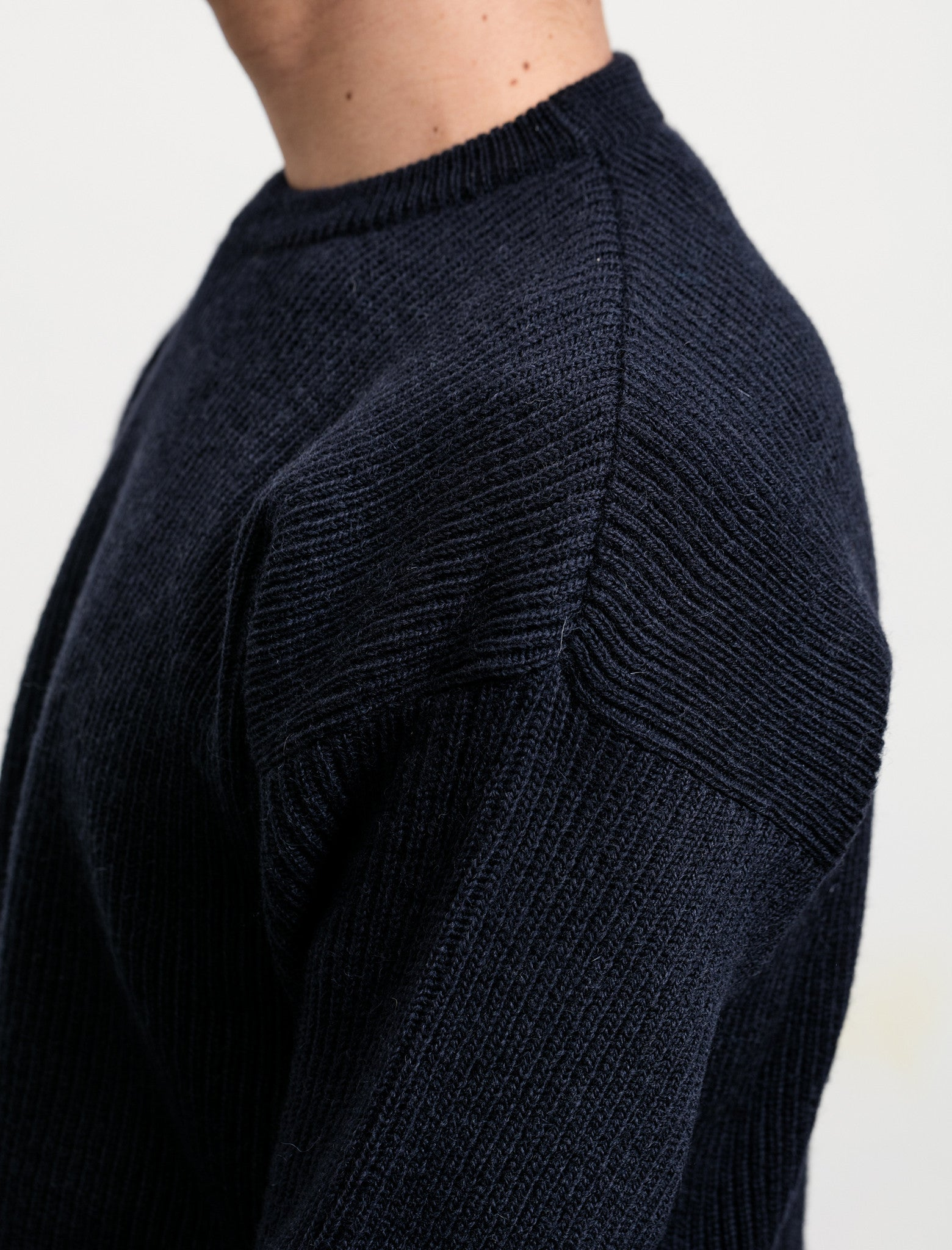 Cristaseya Soft Wool Sweater Navy