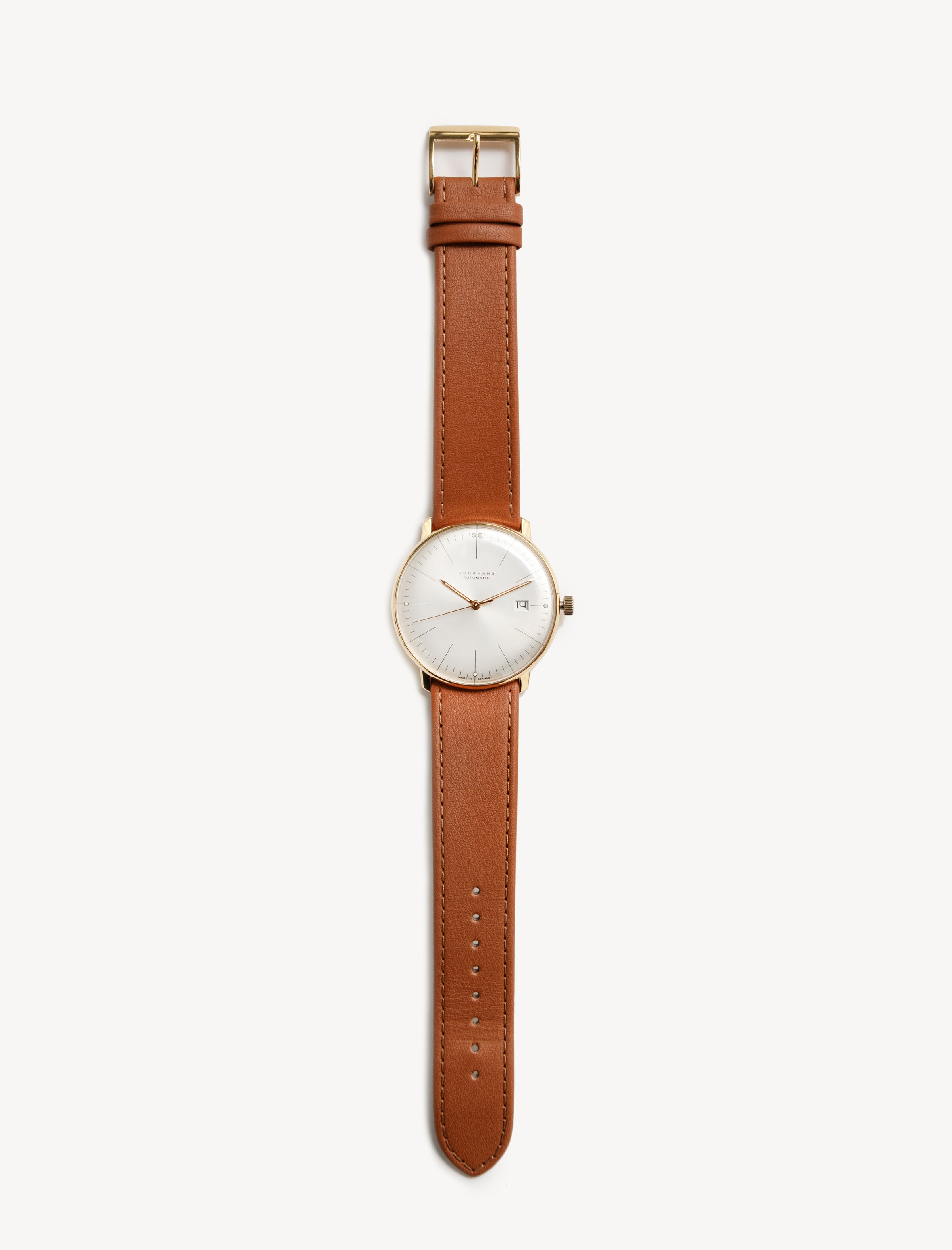 Max Bill Automatic Gold/Tan Leather
