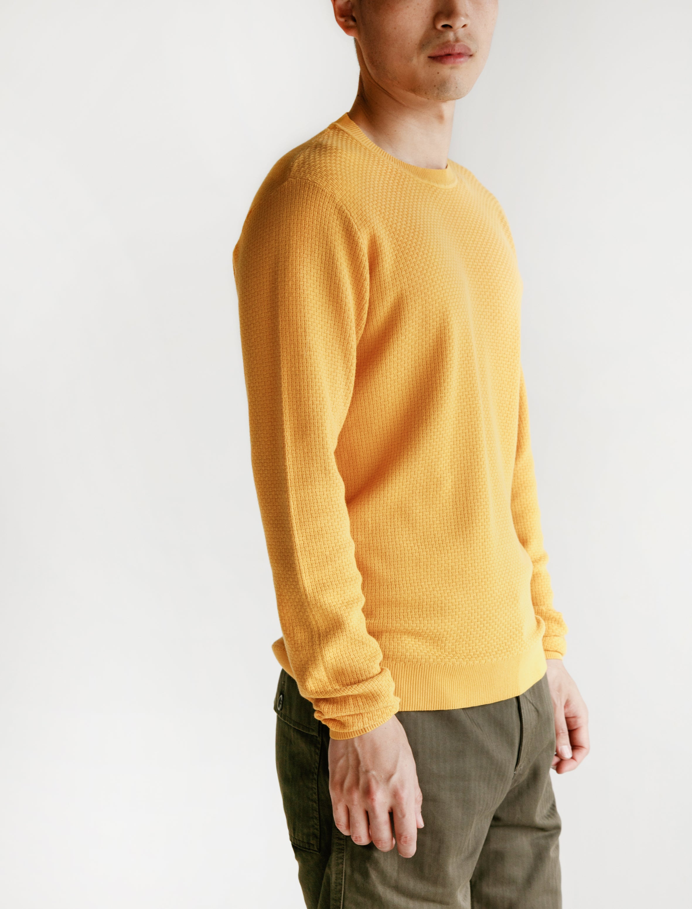 Sigfred Cotton Texture Sunrise Yellow