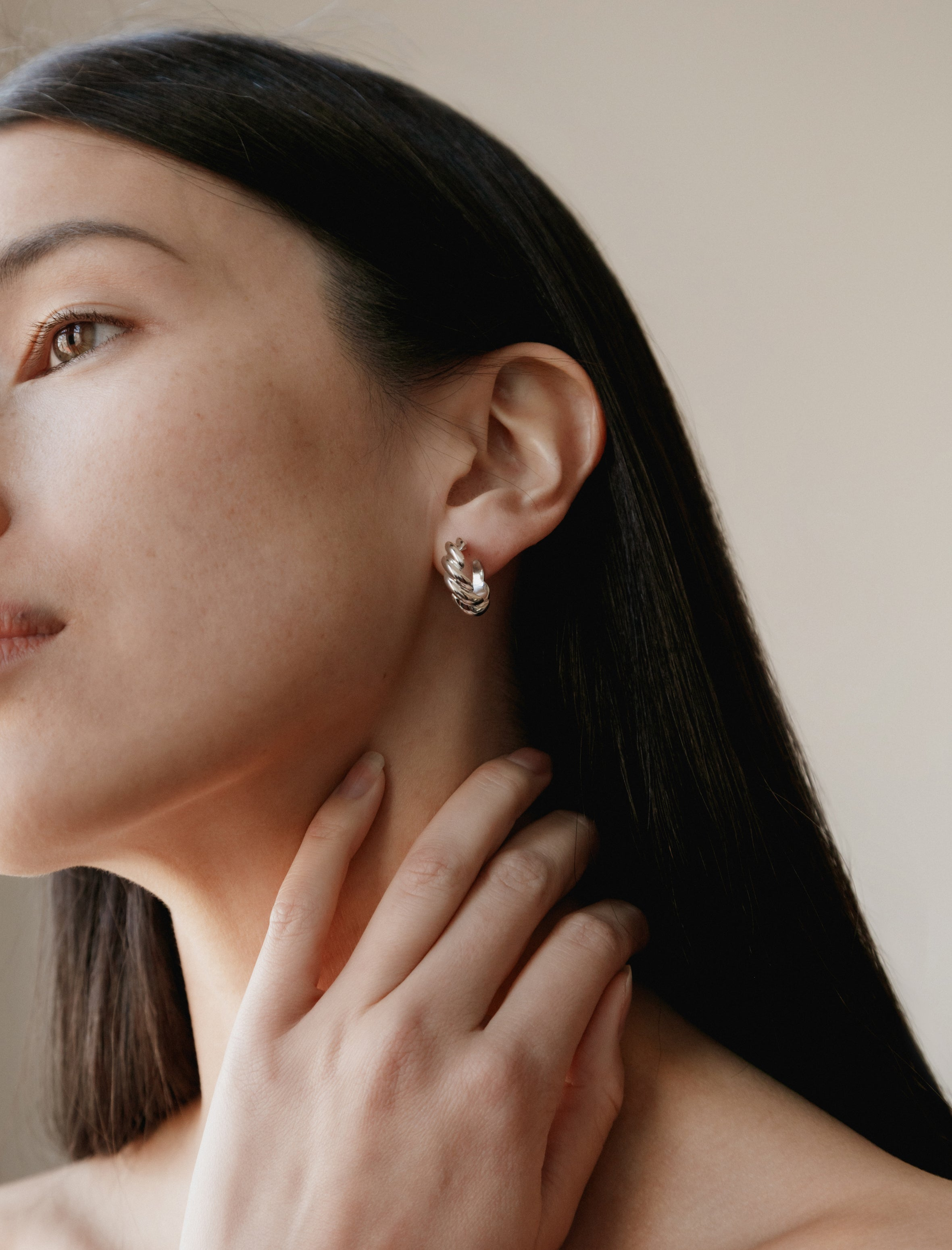 Sophie Buhai Rope Hoop Earrings Small