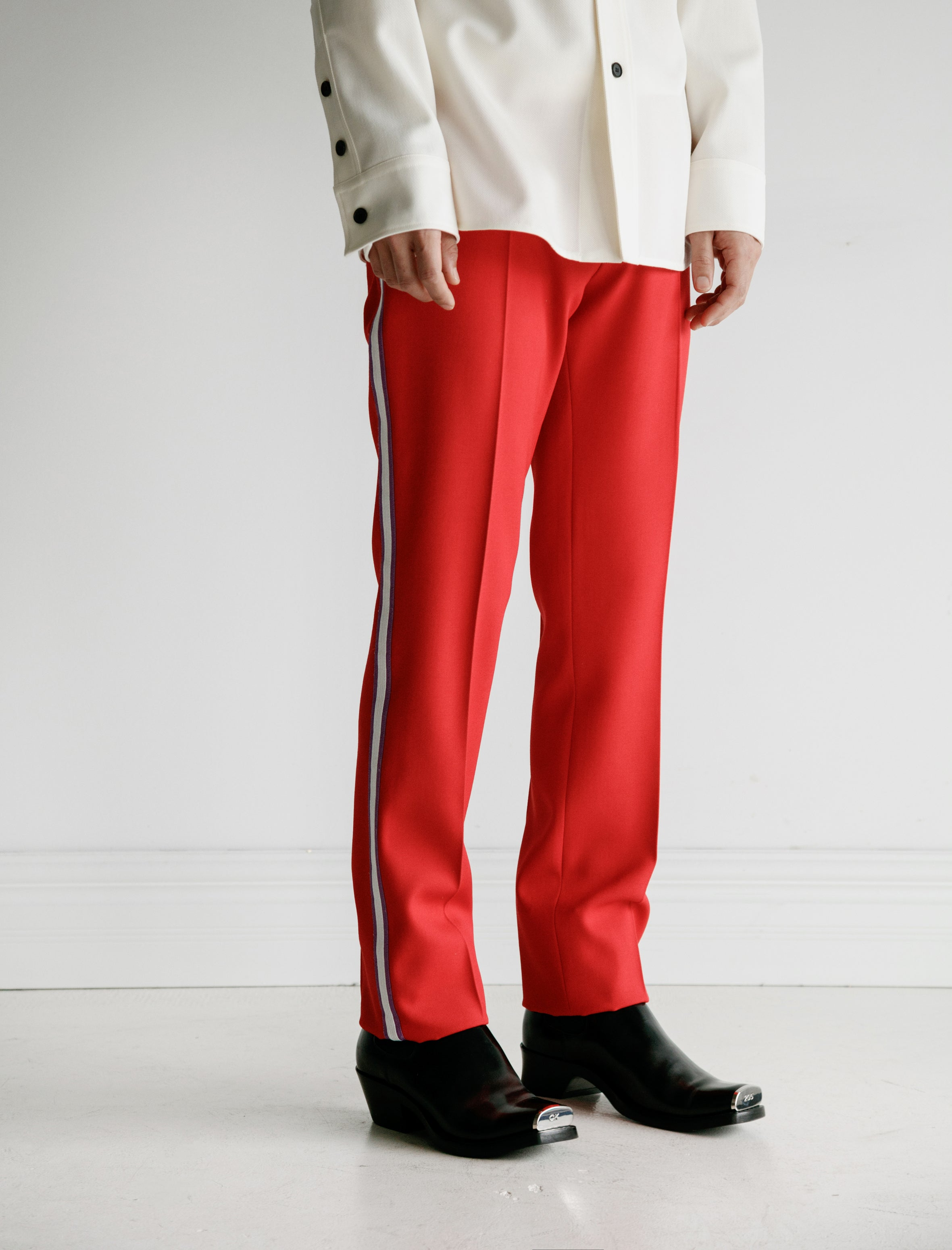 CALVINKLEIN205W39NYC Uniform Pant with Side Stripe Scarlet