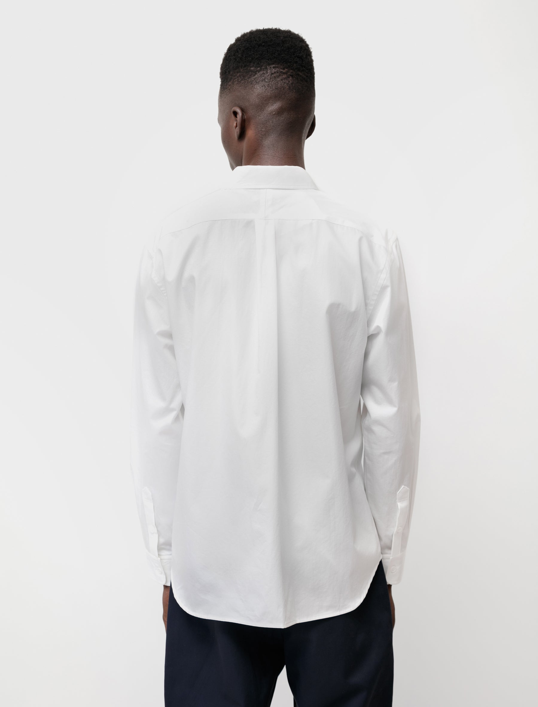 Supima Cotton Regular Collar L/S Shirt White
