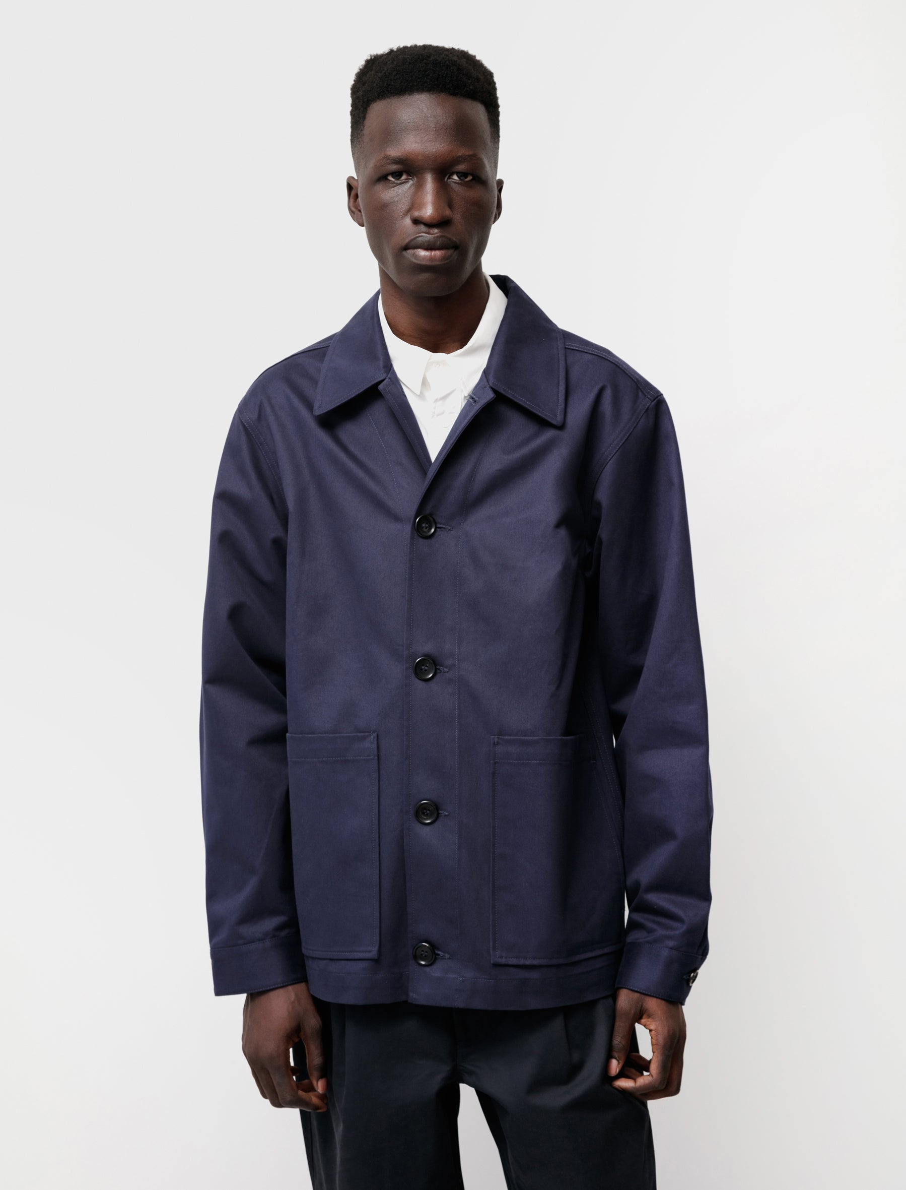 James Coward Ganz Worker Jacket Navy Drill