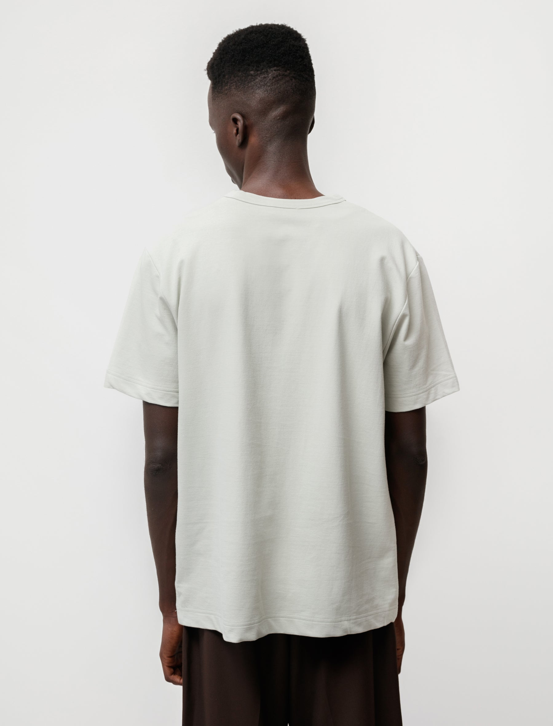 niuhans Dry Touch Cotton Inlay S/S Pocket Tee Moss