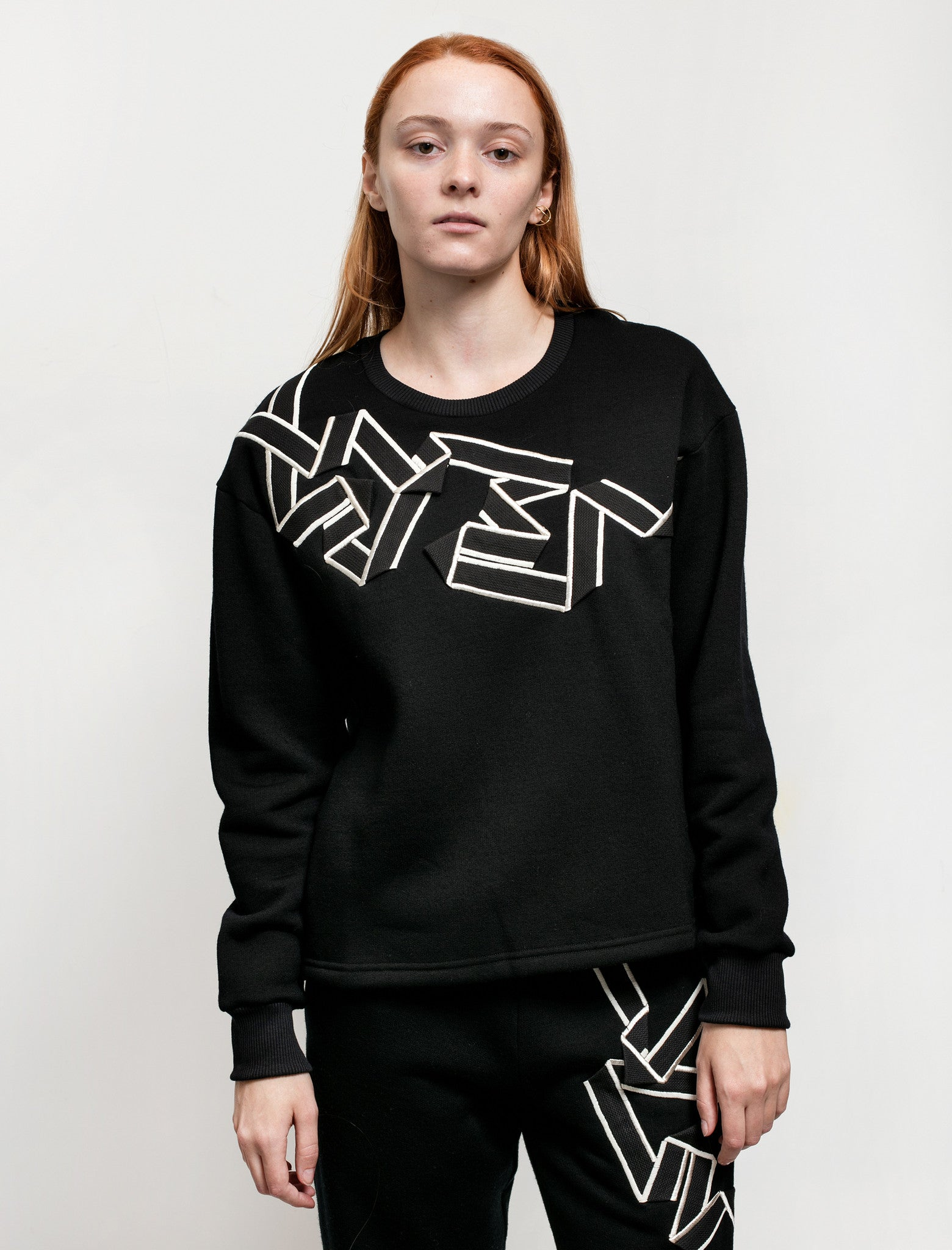 Christopher Raeburn Embroidered Tape Crewneck Sweatshirt