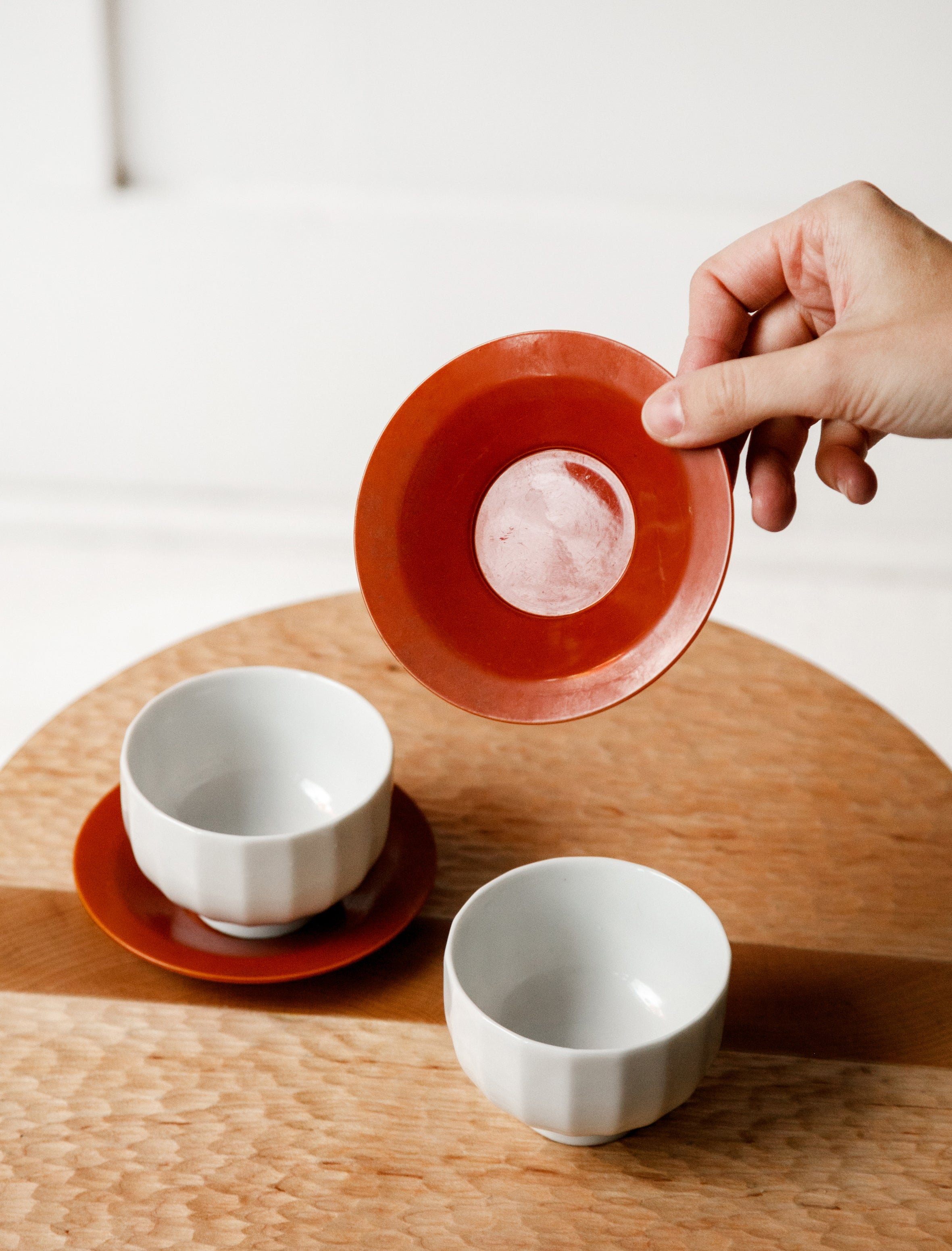Japanese Teacups with Celluloid Saucers