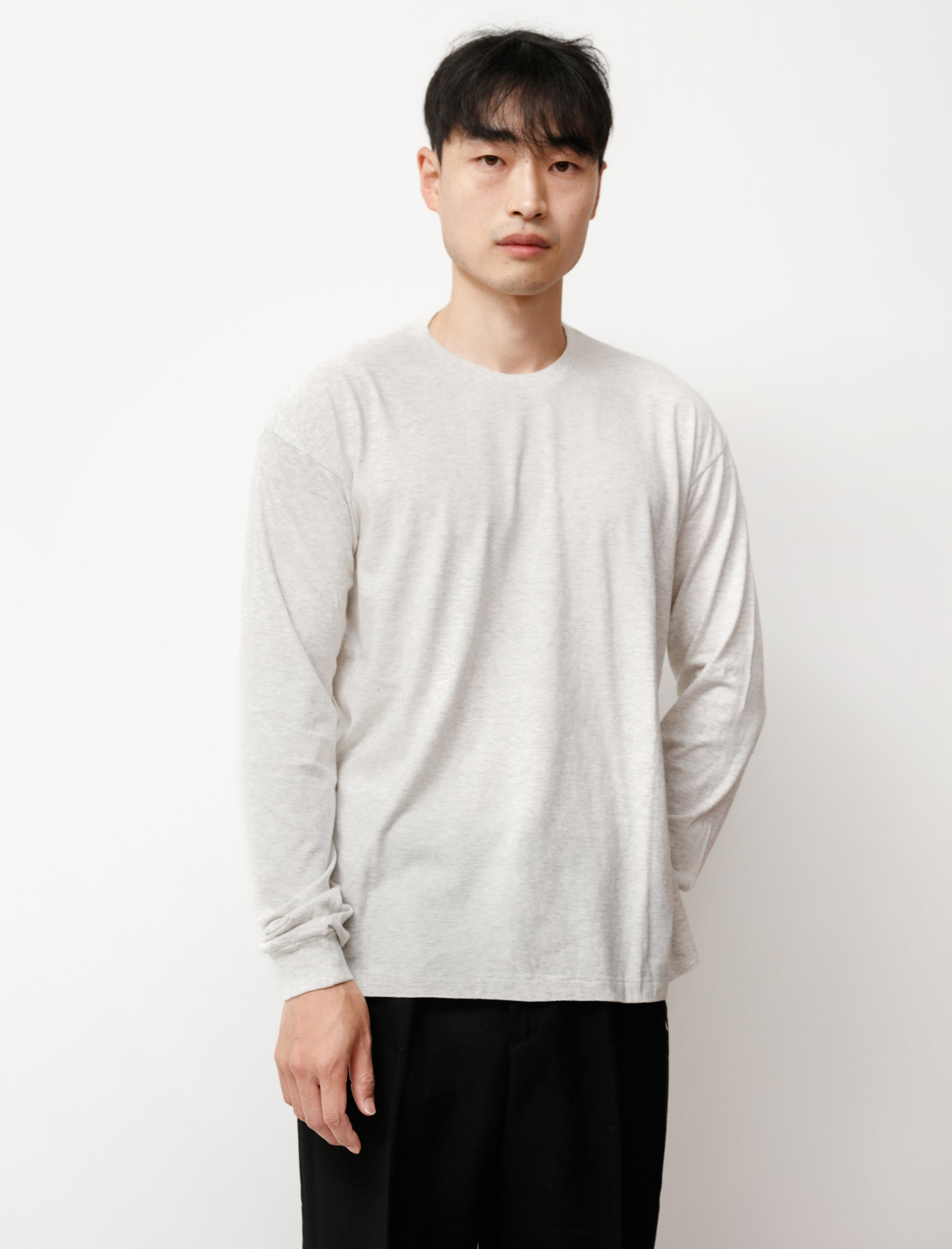 Auralee Seamless L/S Crew Tee Top Gray