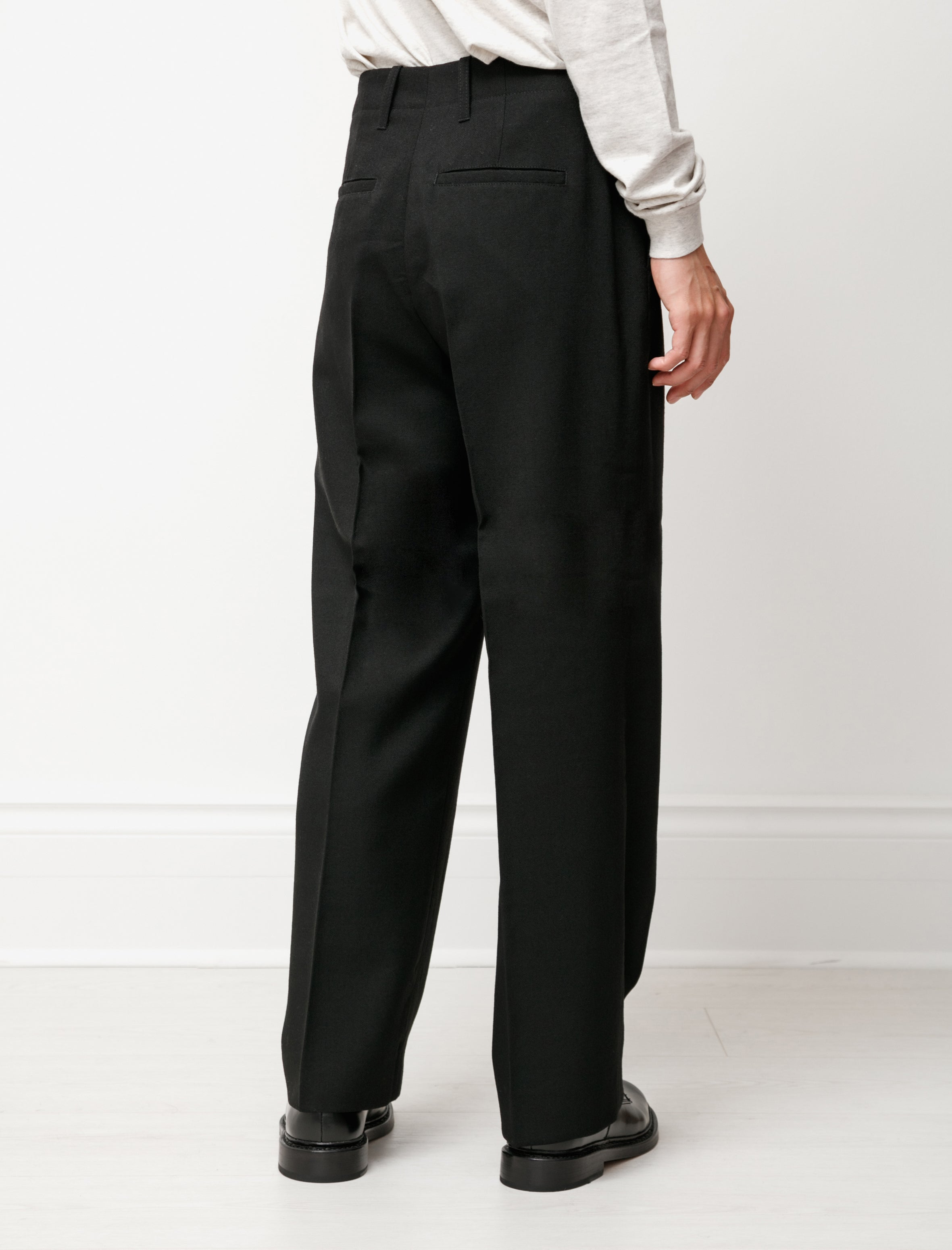 Our Legacy Borrowed Chino Black Coarse Wool