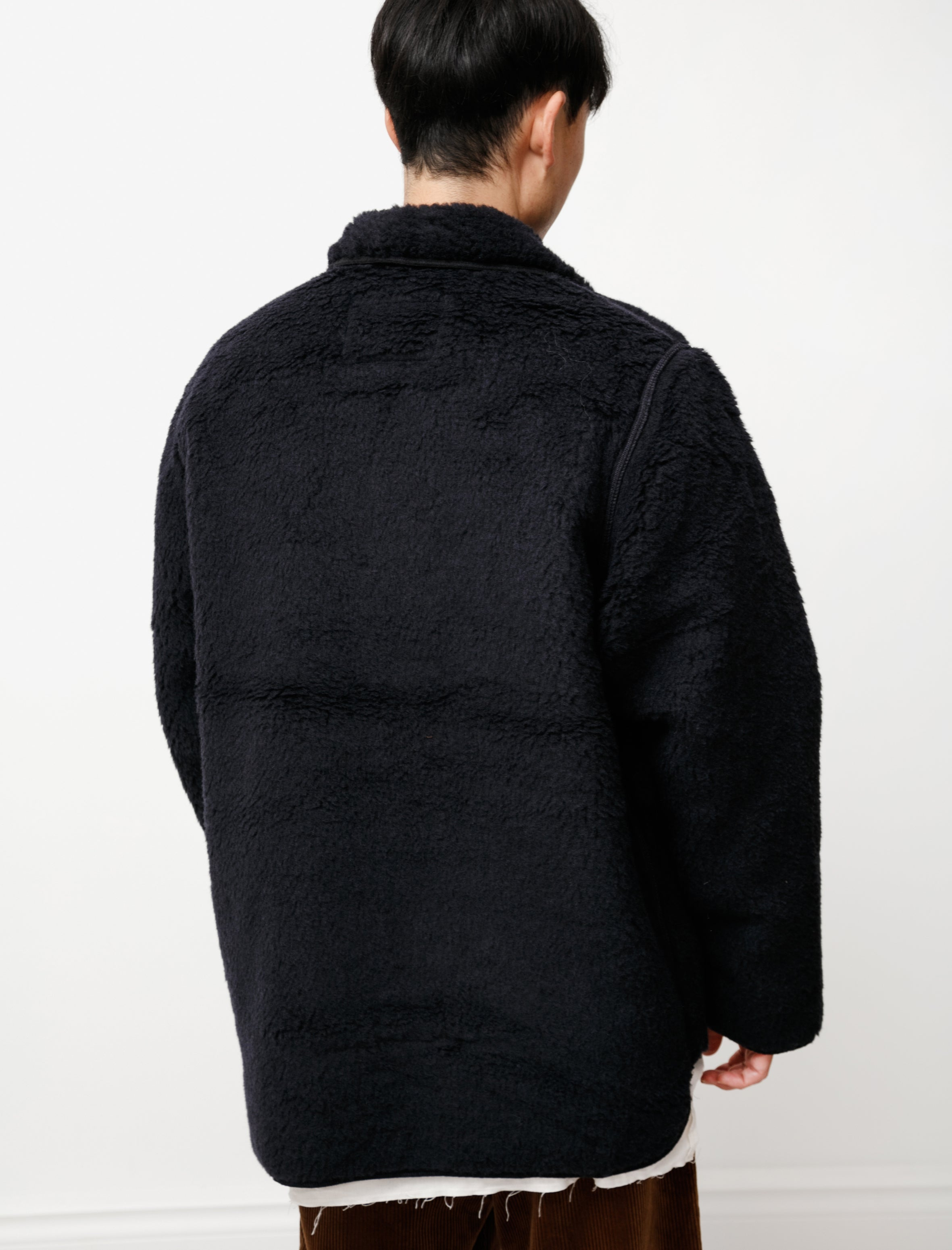 Camiel Fortgens Sheep Jacket Pure Wool Dark Blue