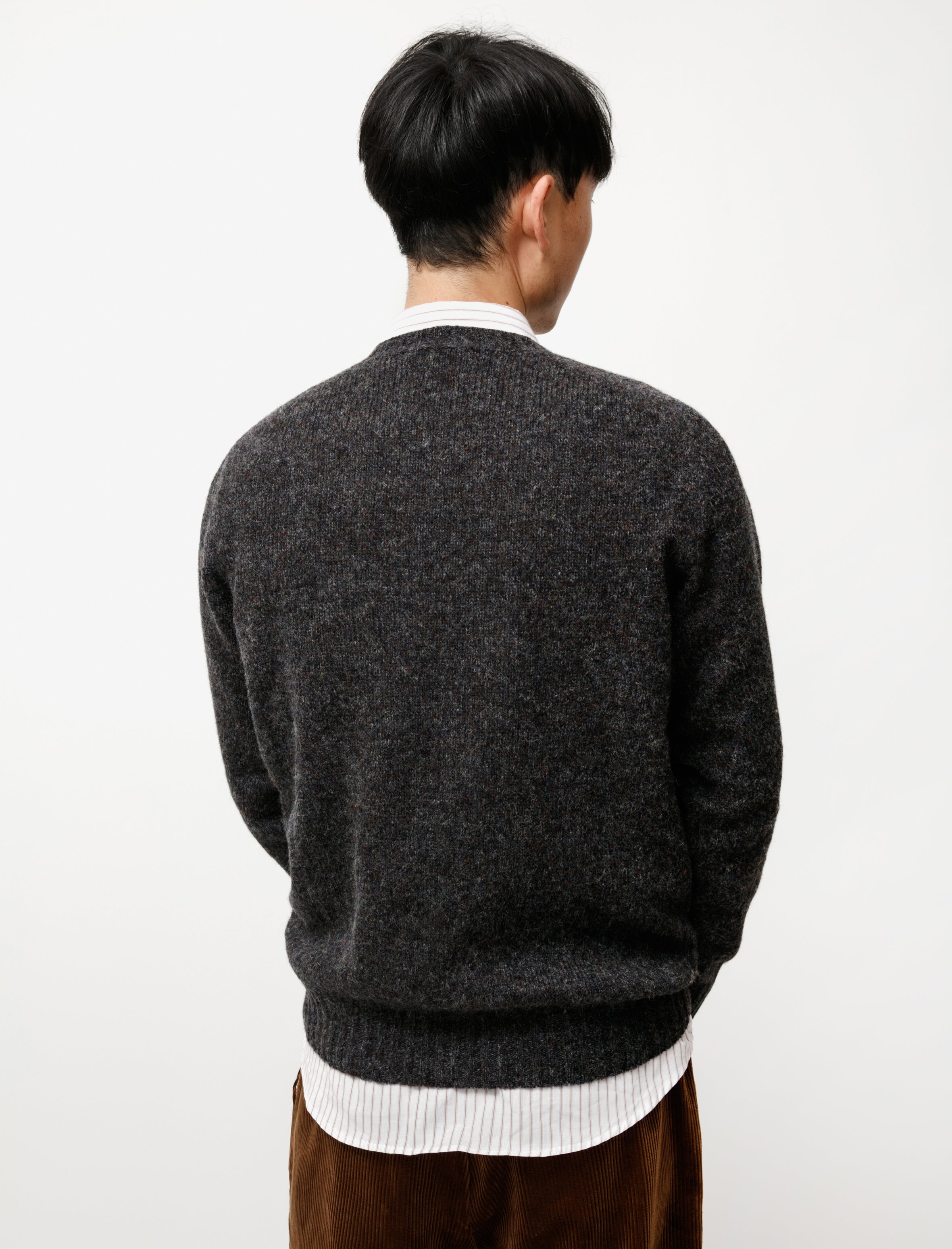 Neighbour Pure Shetland Wool Sweater Smoulder
