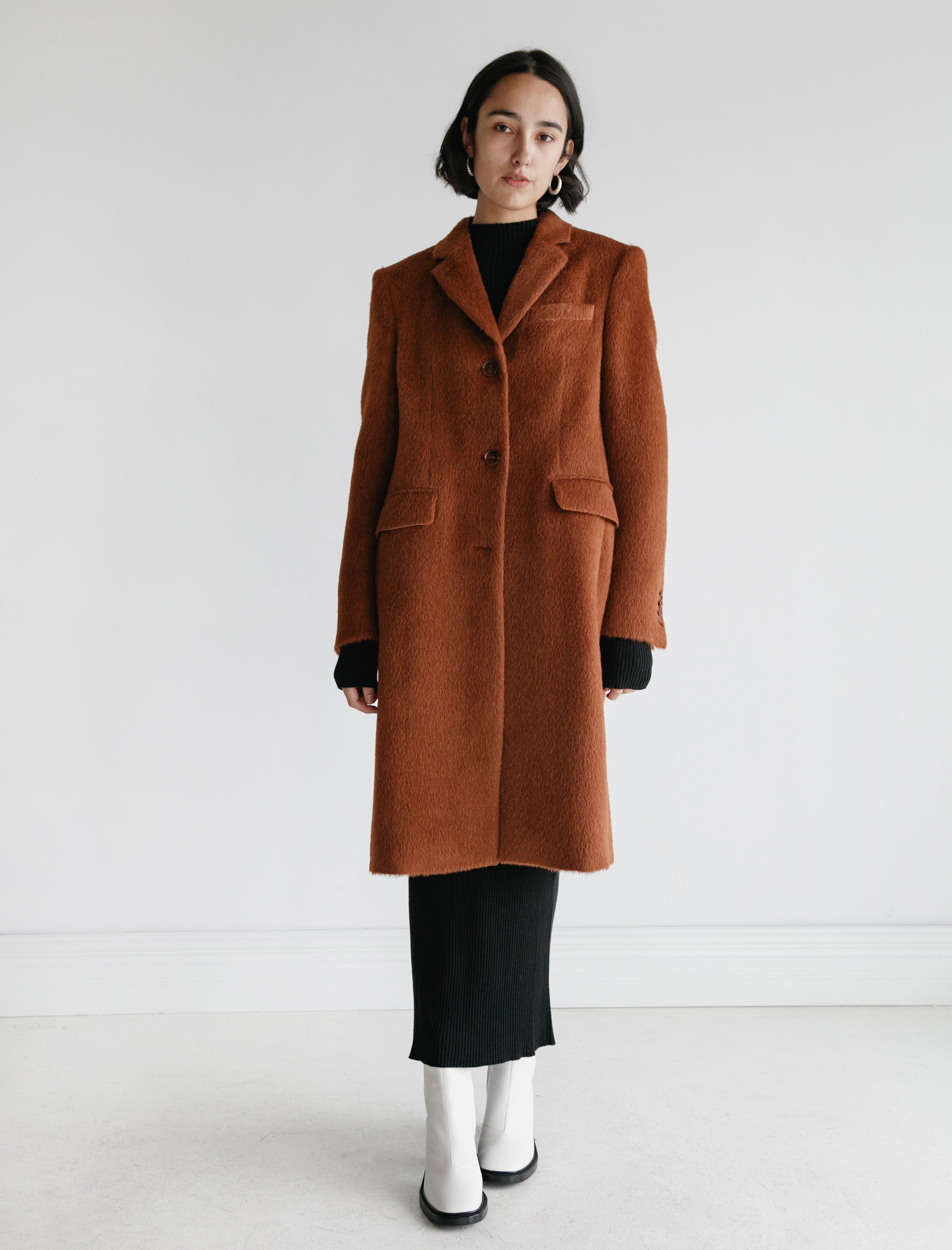 Acne Studios Onita Hairy Wool Caramel Brown