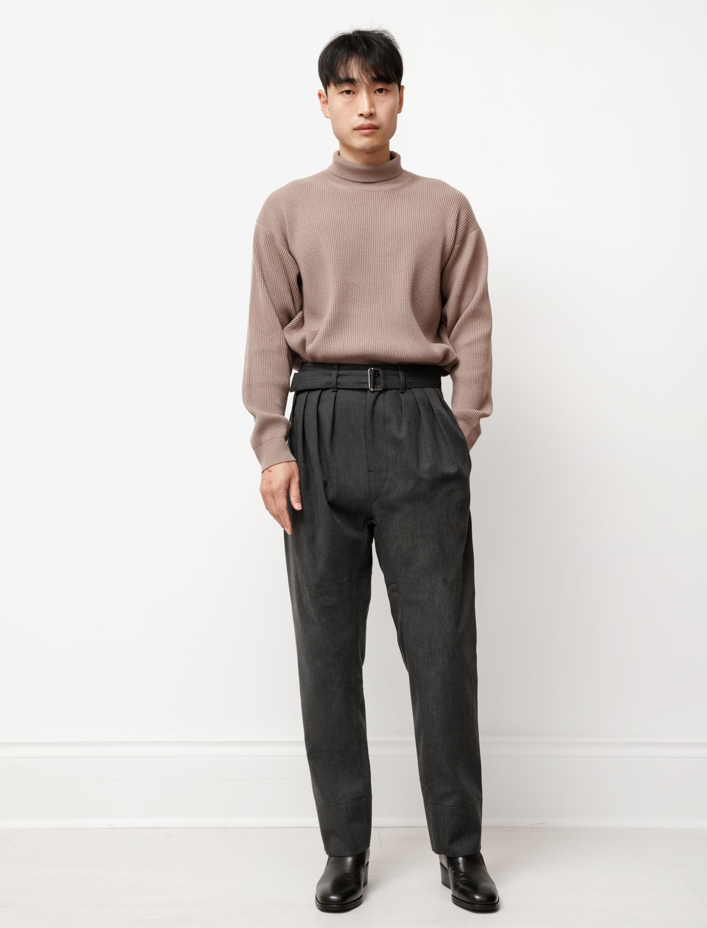 Lemaire 4 Pleats Pants Anthracite
