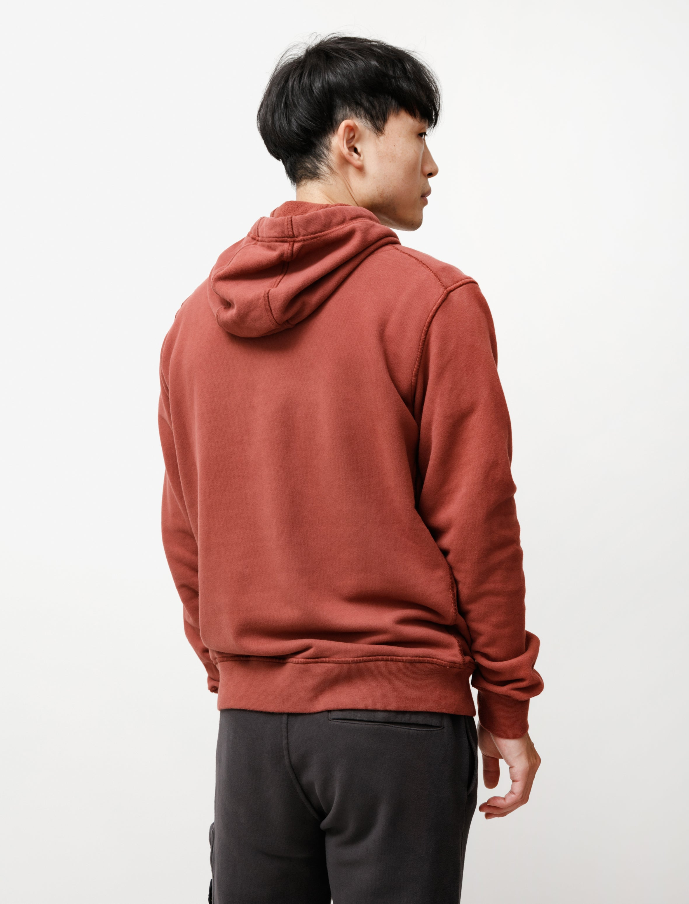 Stone Island Hooded Sweatshirt Dark Burgundy