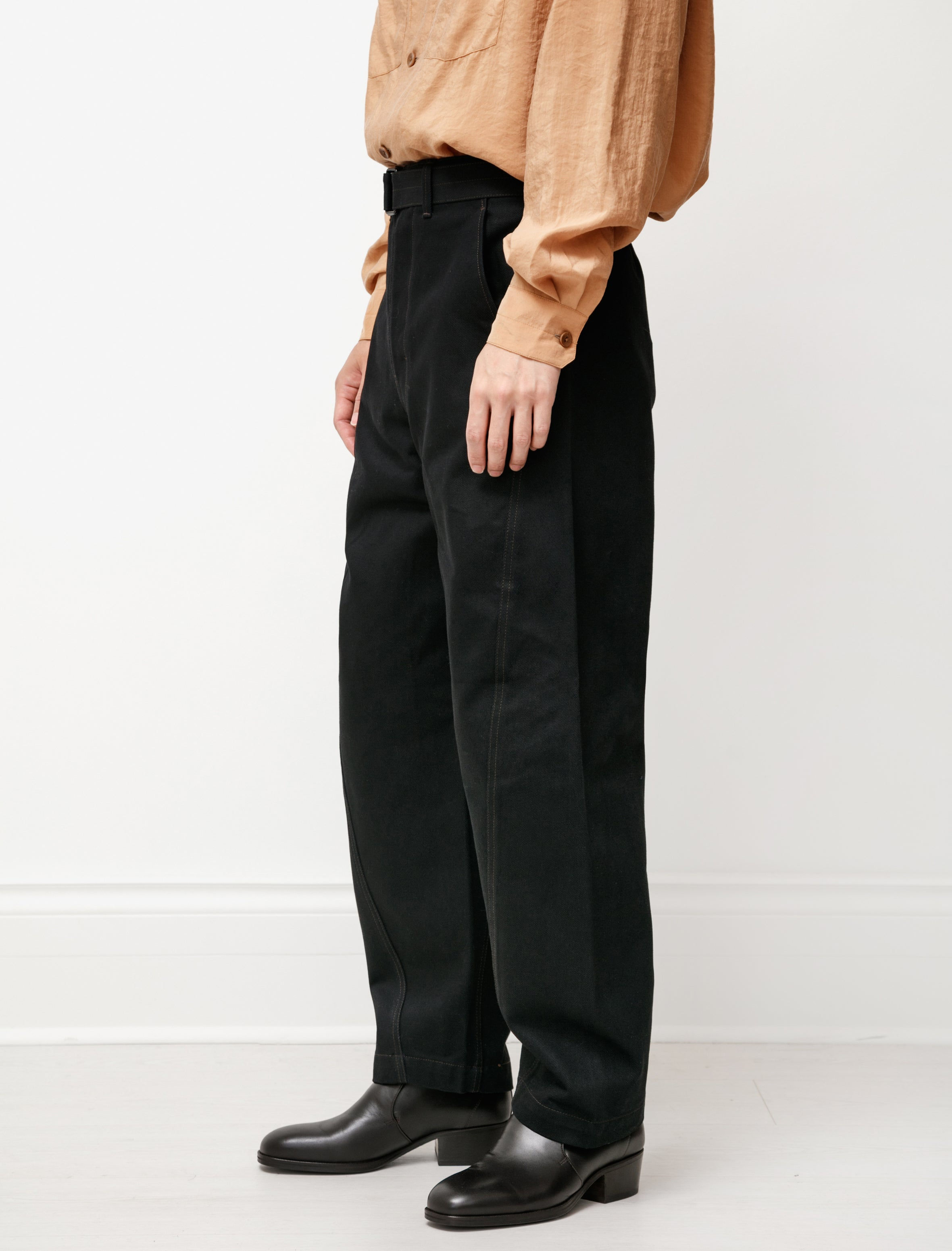 Lemaire Twisted Jeans Black Denim