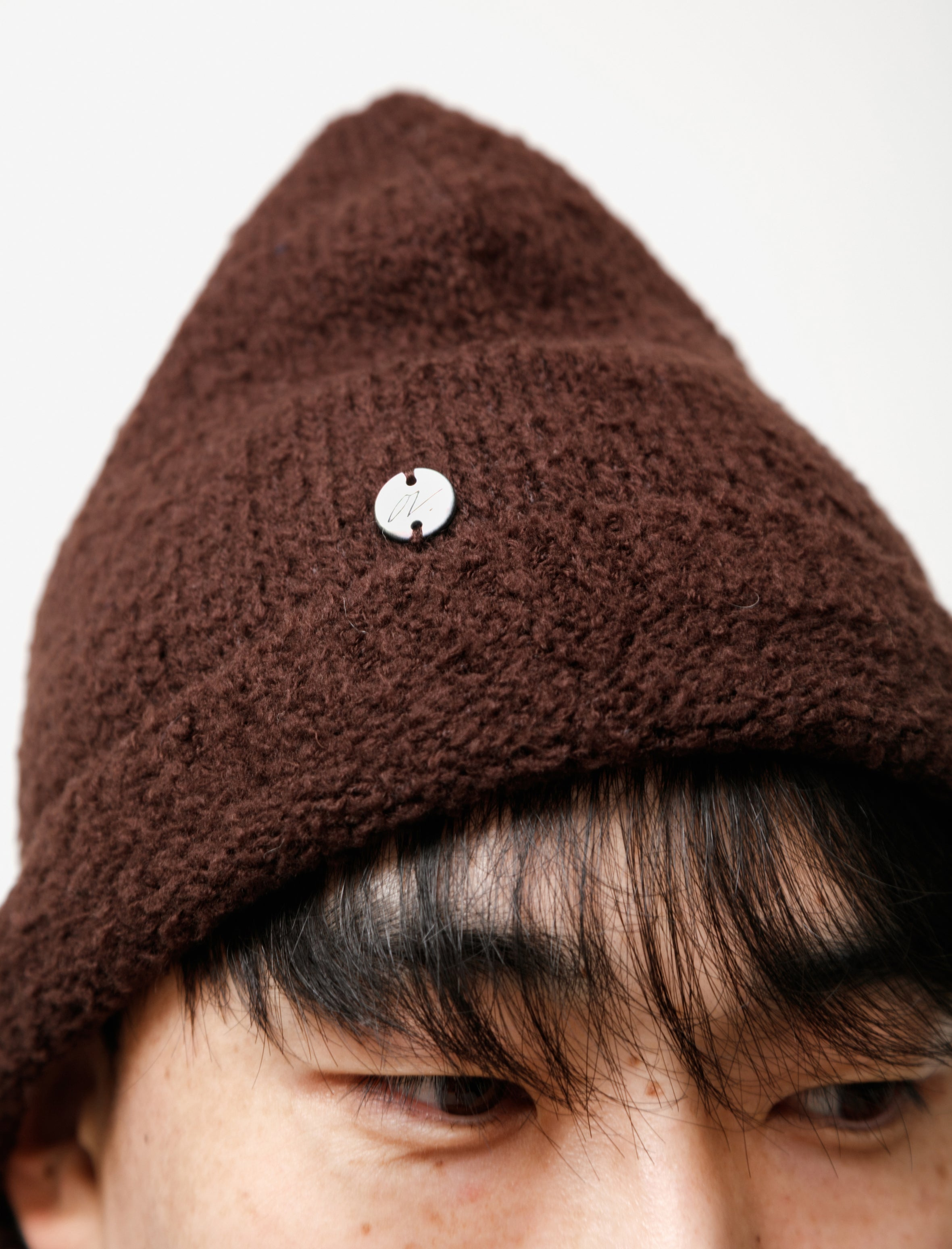 Our Legacy Knitted Hat Teddy Brown Merino