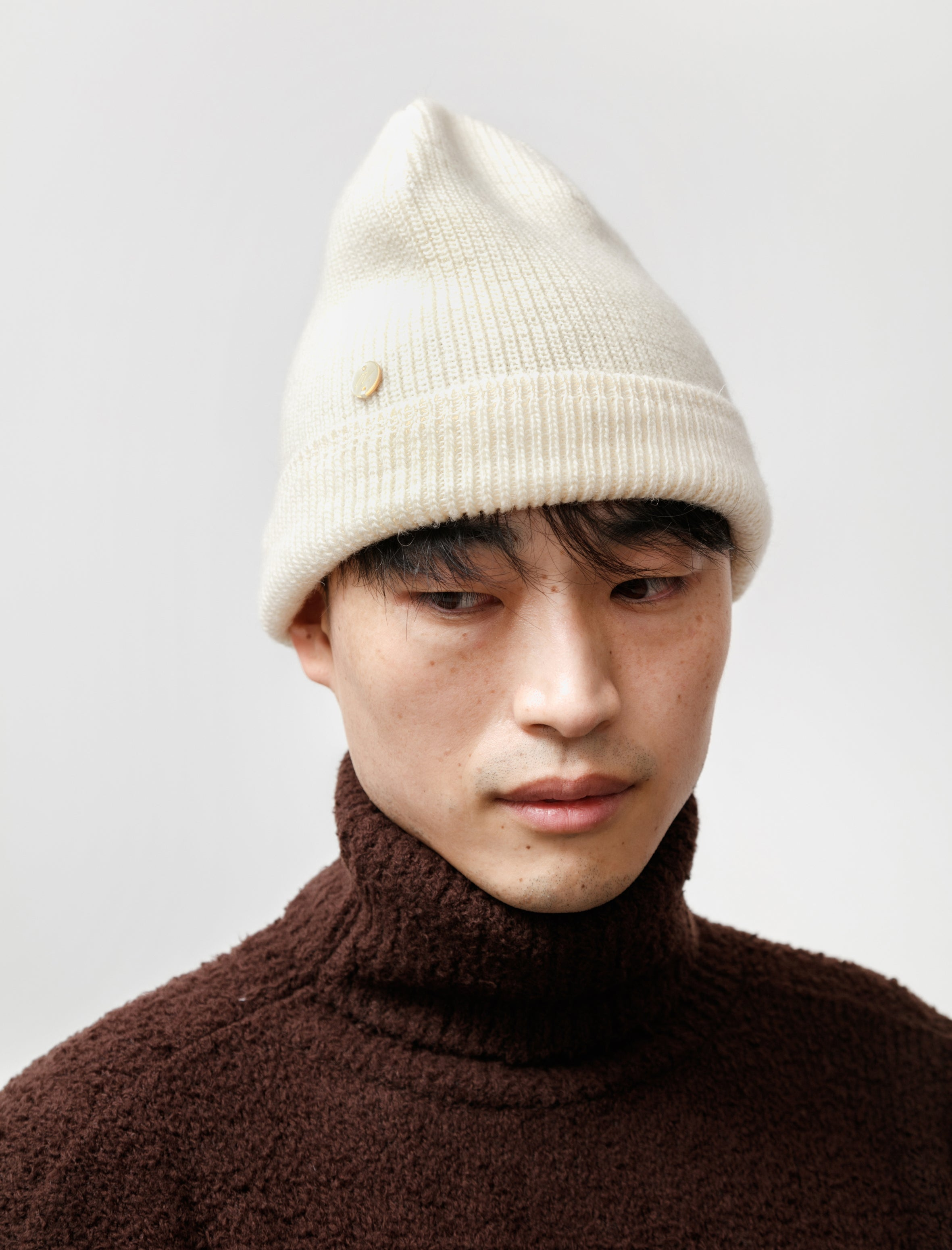 Our Legacy Knitted Hat Ivory Wool