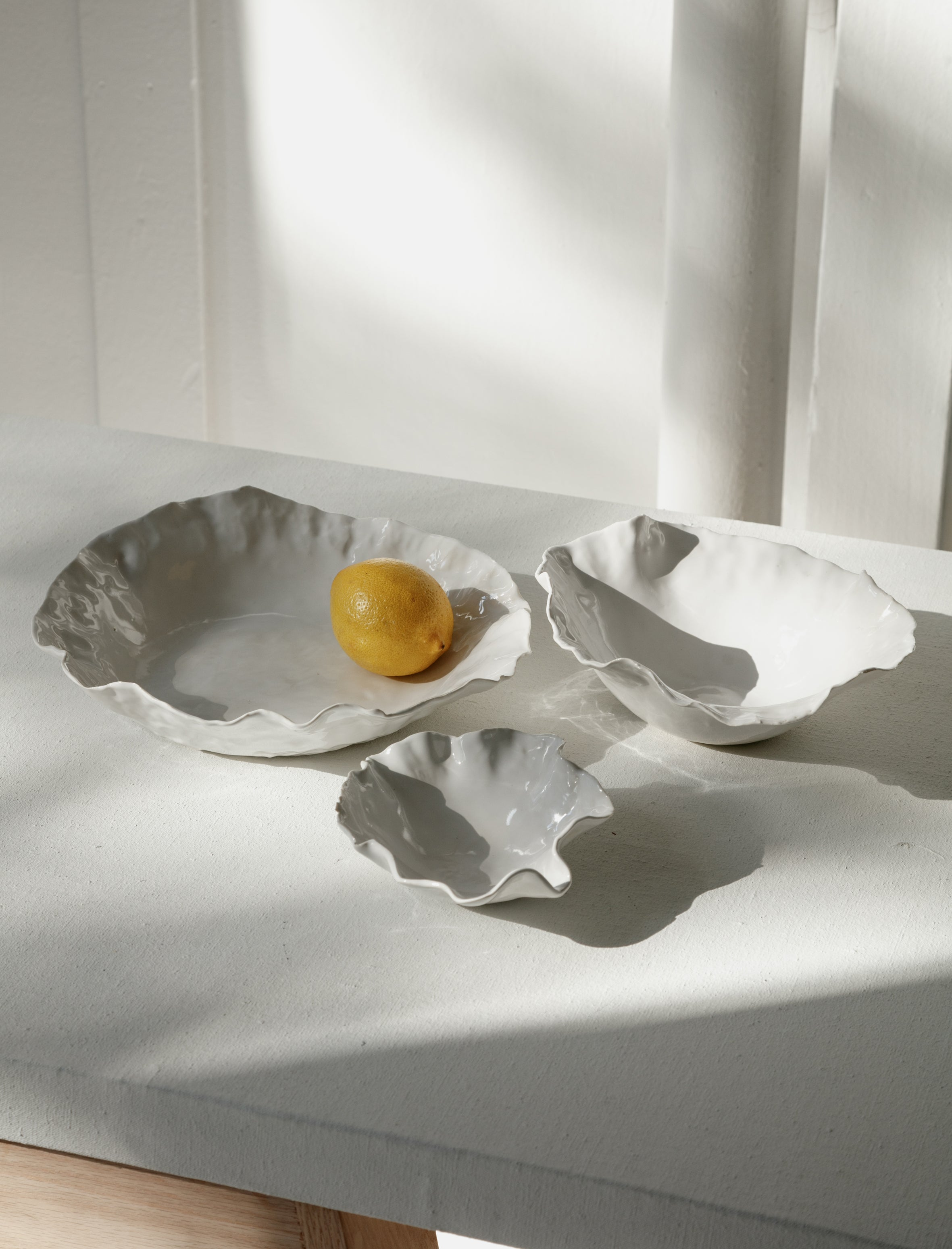 Nathalee Paolinelli Nesting Oyster Bowls