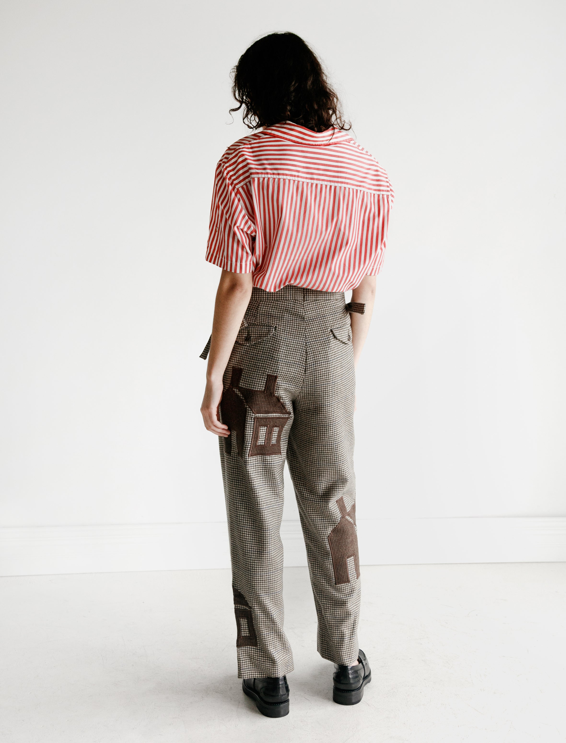 MM6 by Maison Margiela Micro Stripe Top with Tie Back