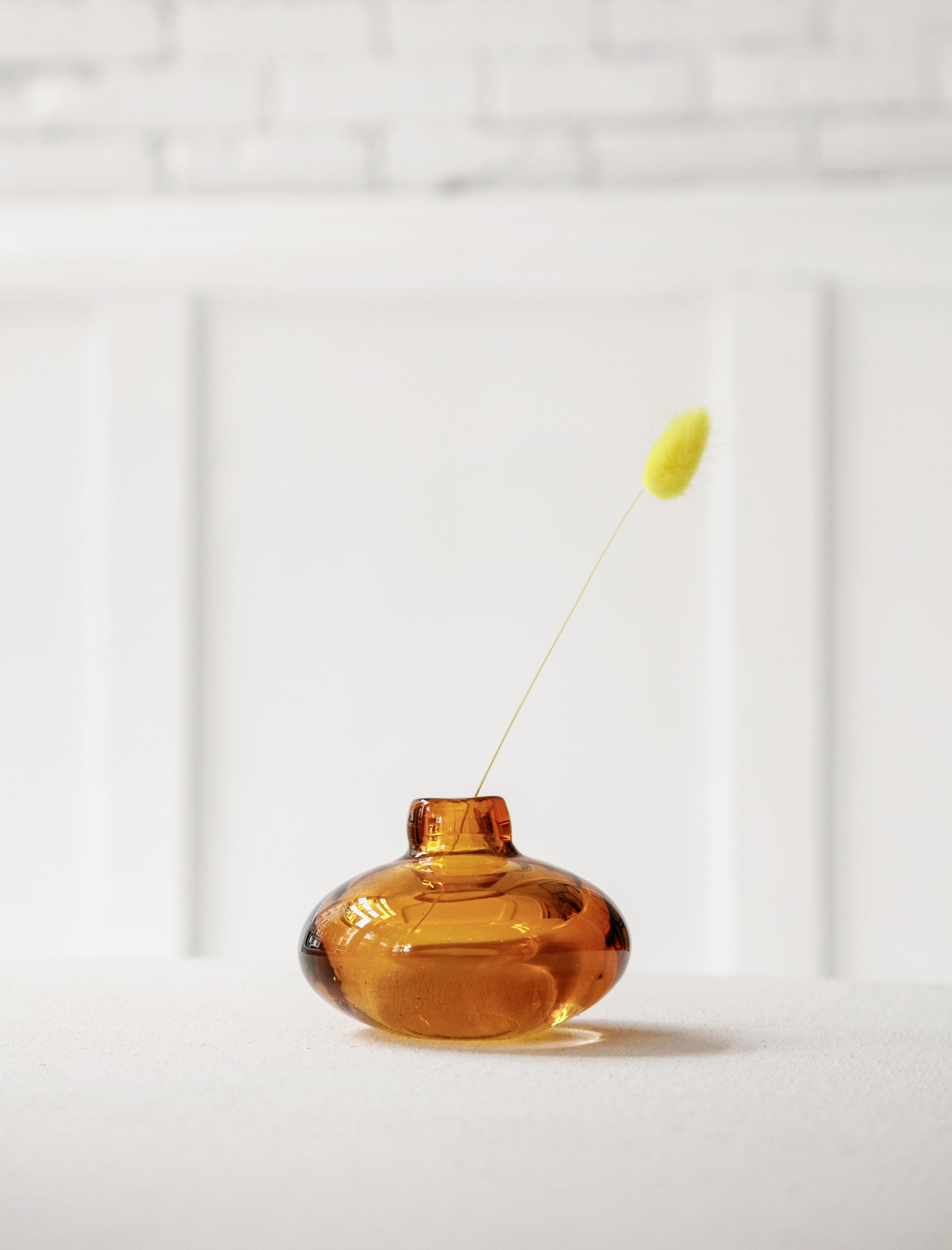 Found by Neighbour Murano Glass Bud Vase Amber