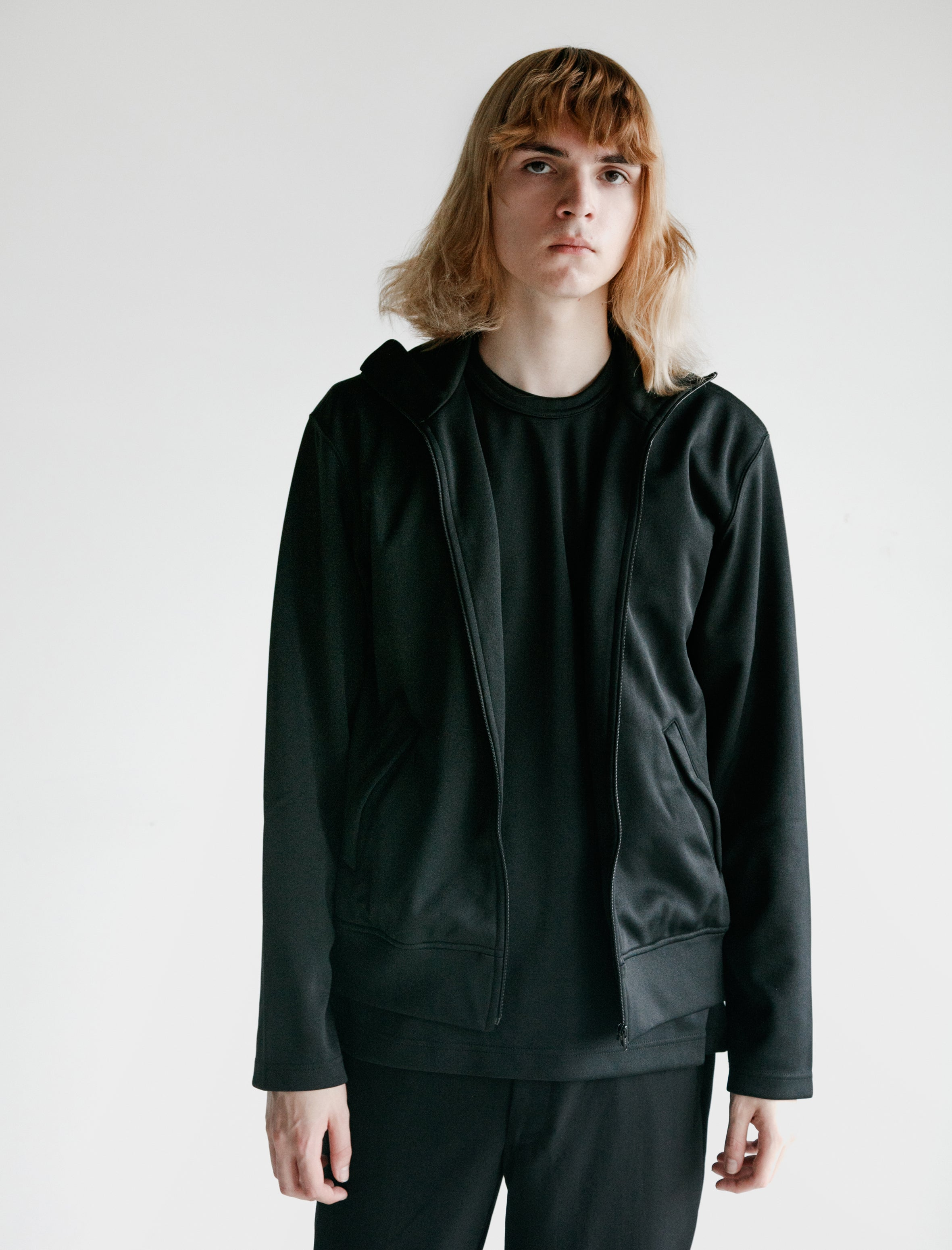 Comme des Garcons Poly Jersey Thick Jacket Black