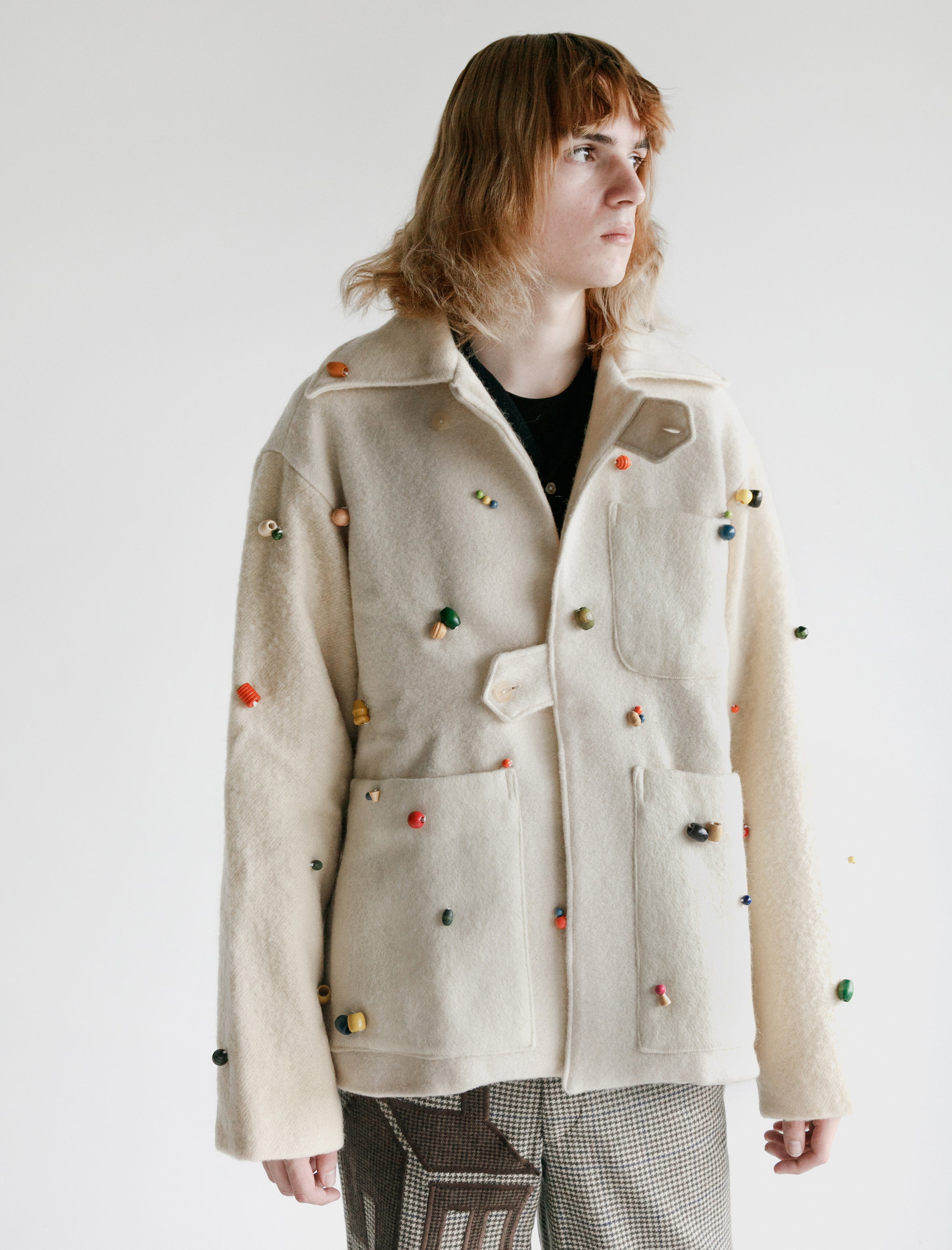 Bode Beaded Tab Jacket