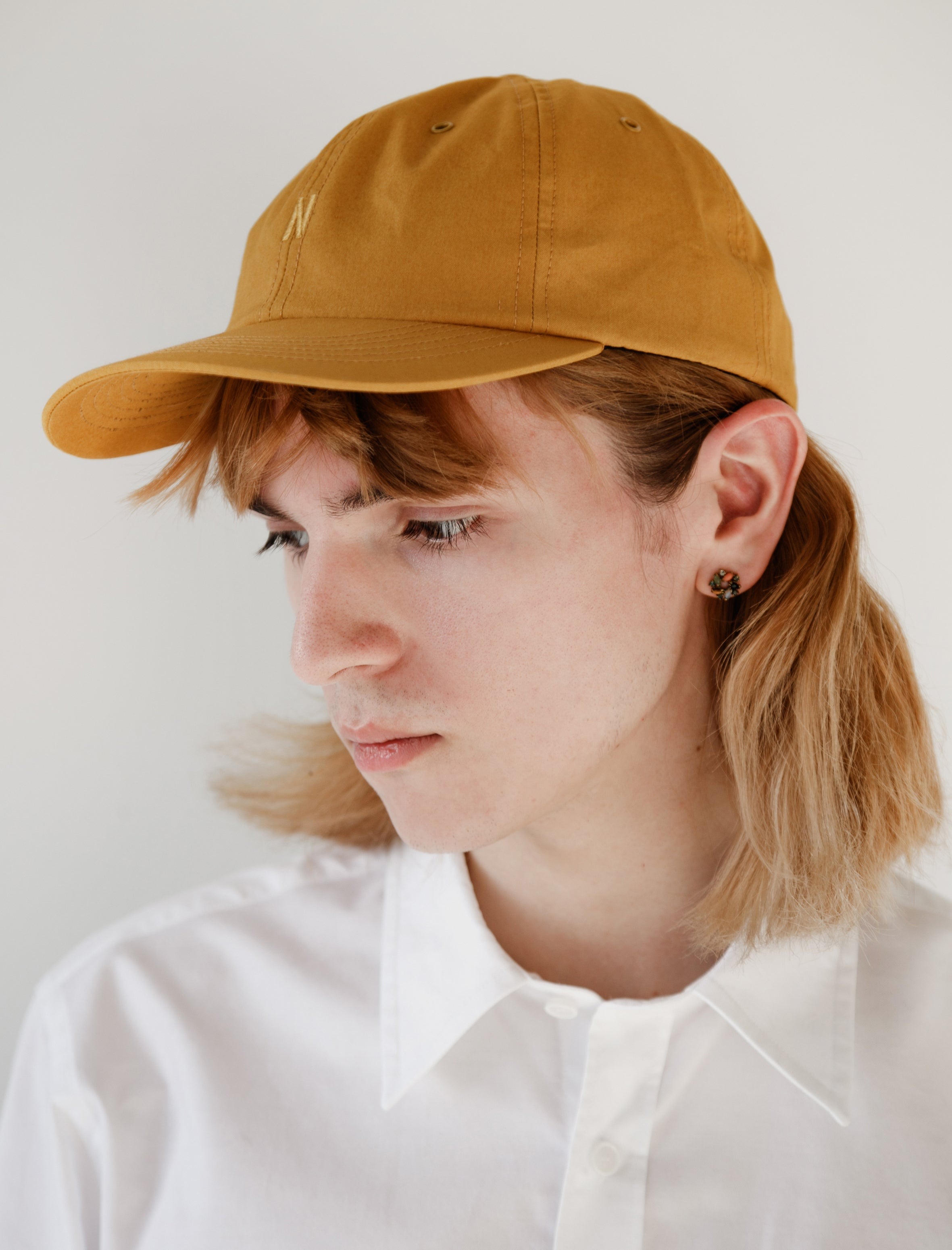 Norse Projects British Millerain Cambric Cap Montpellier Yellow