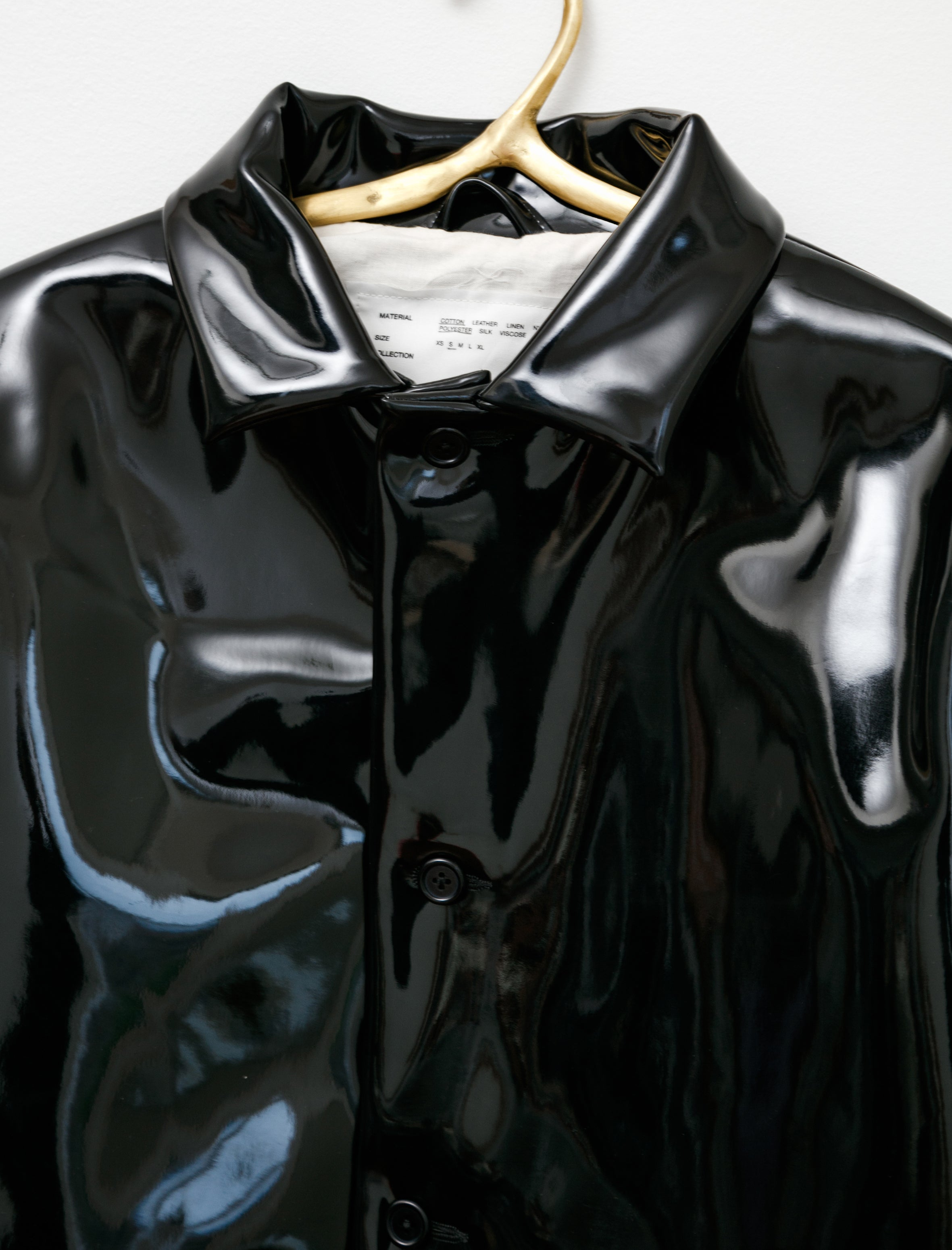 Camiel Fortgens Lacquered Jacket Black