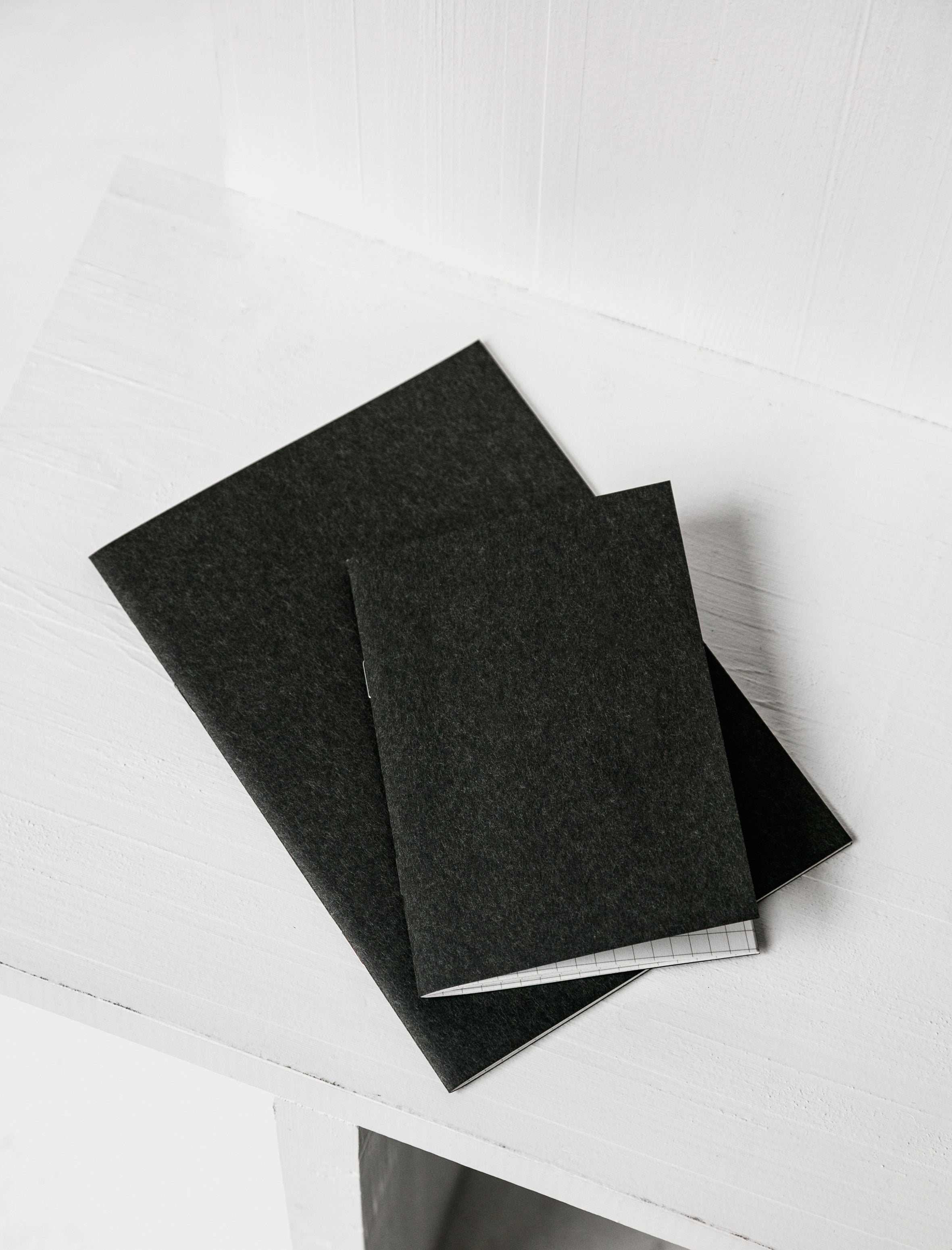 Carta Pura Small Notebook Graph Paper Black