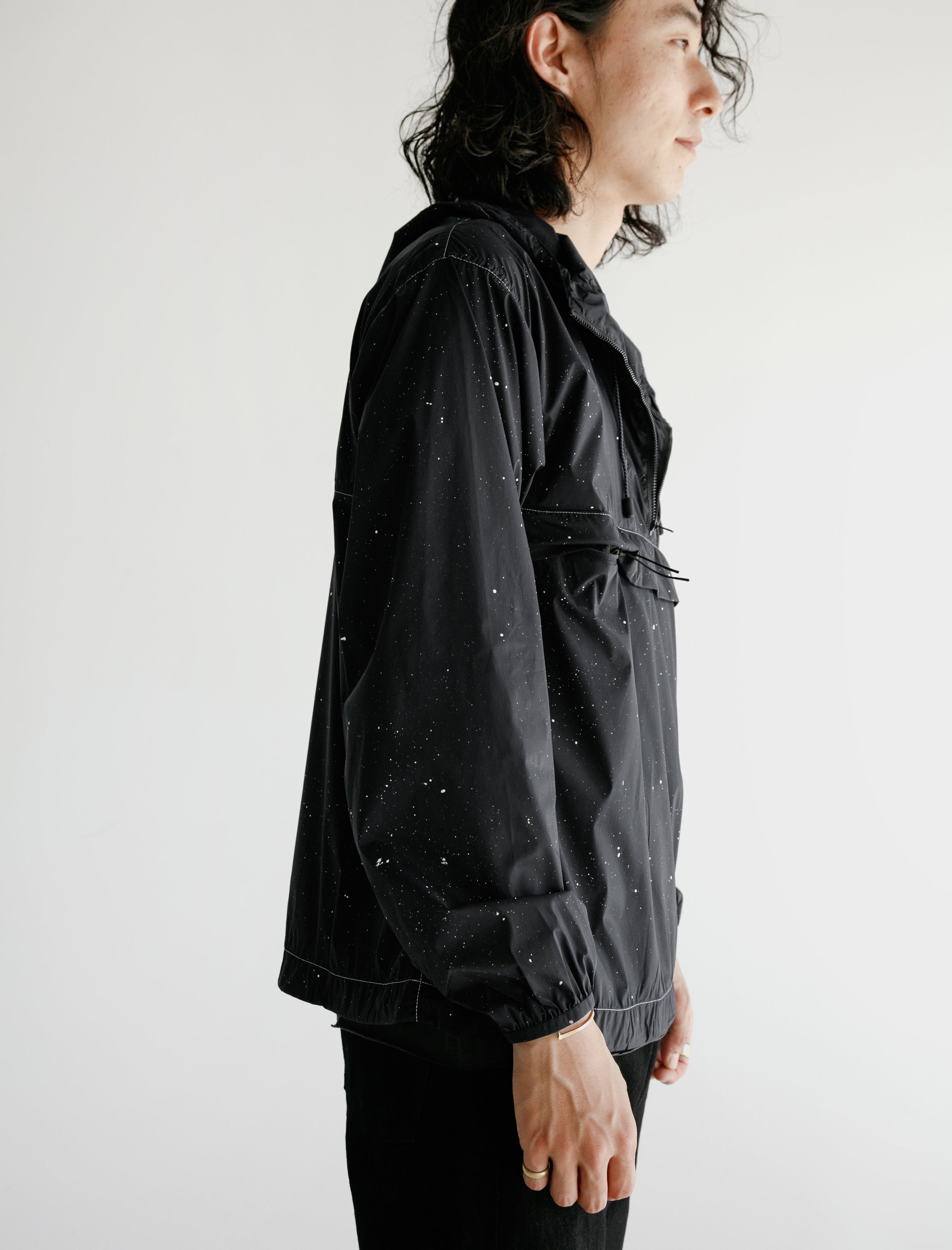 Satisfy Anorak Navy Silk Splattered