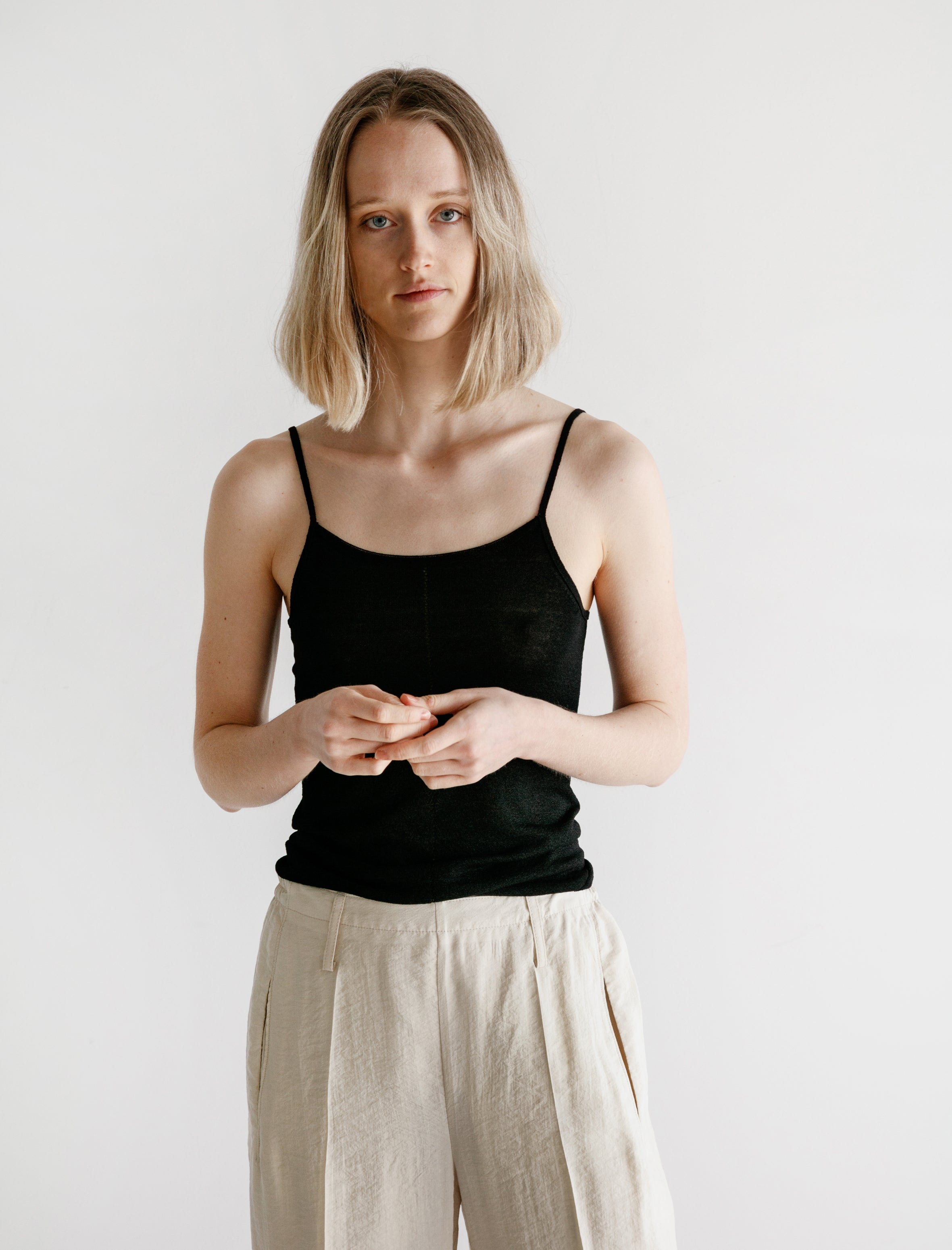 Lemaire Second Skin Tank Top Black