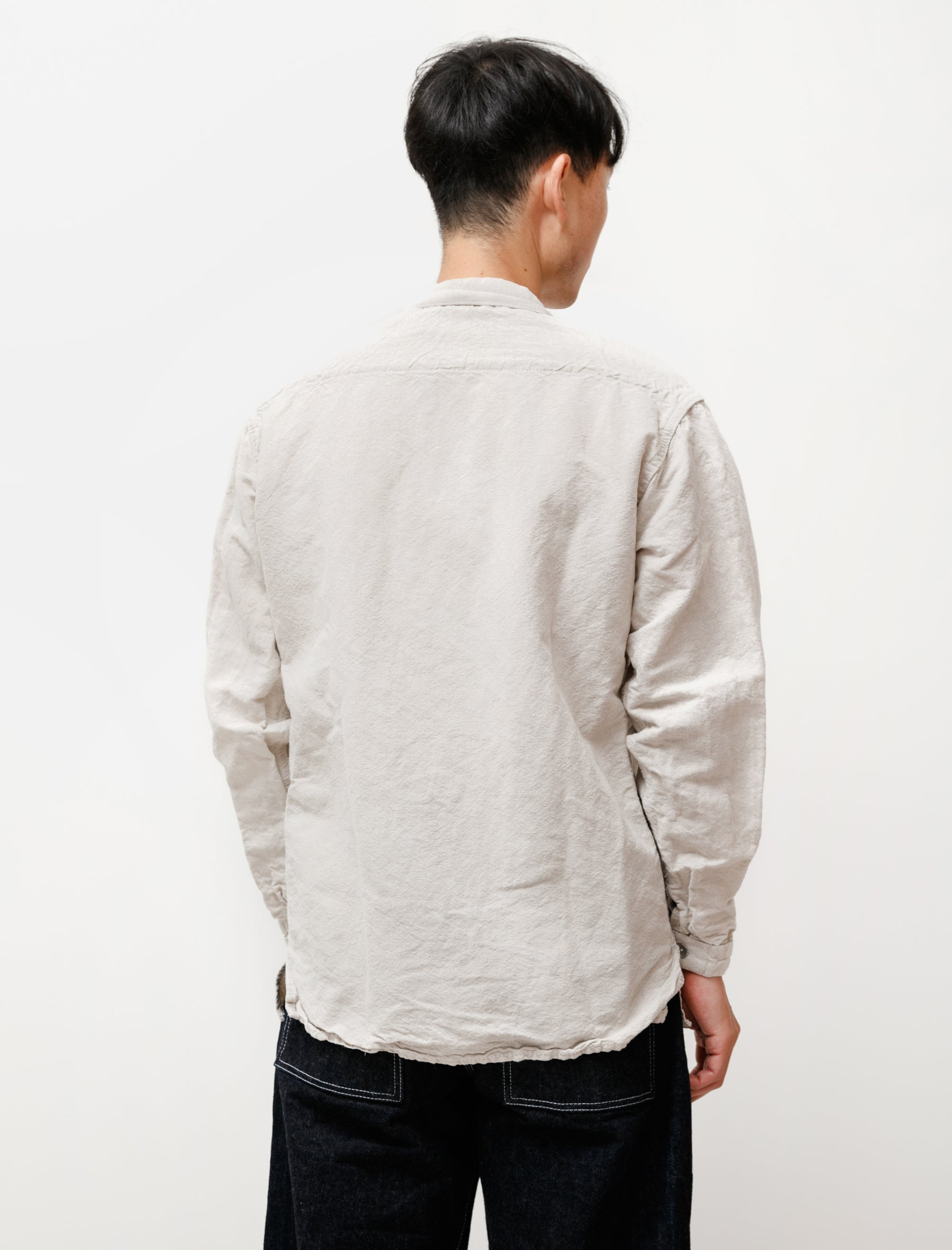Tender 492 Bench Shirt Linen Covert Rinse Washed