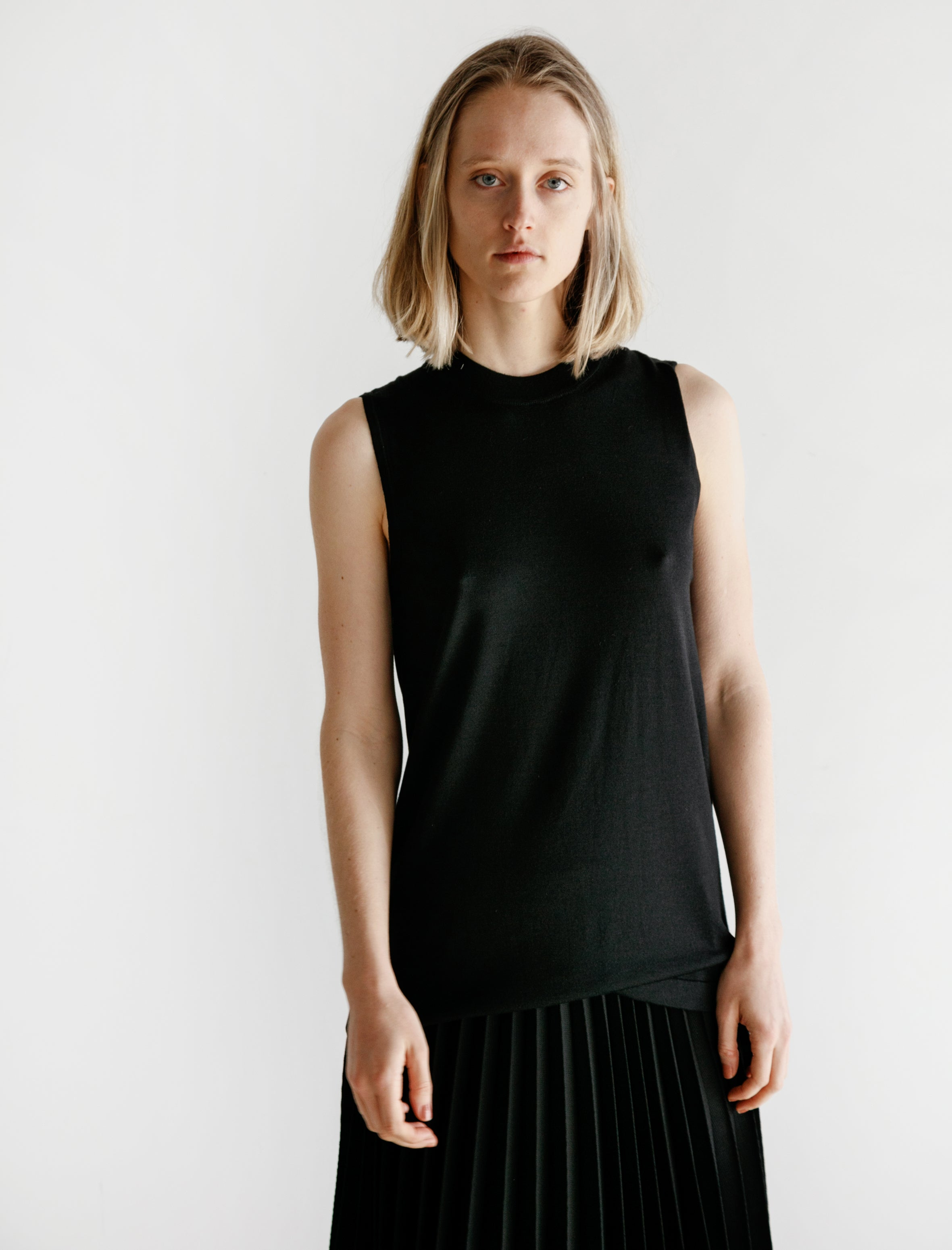 Sunspel Tunic Top Black