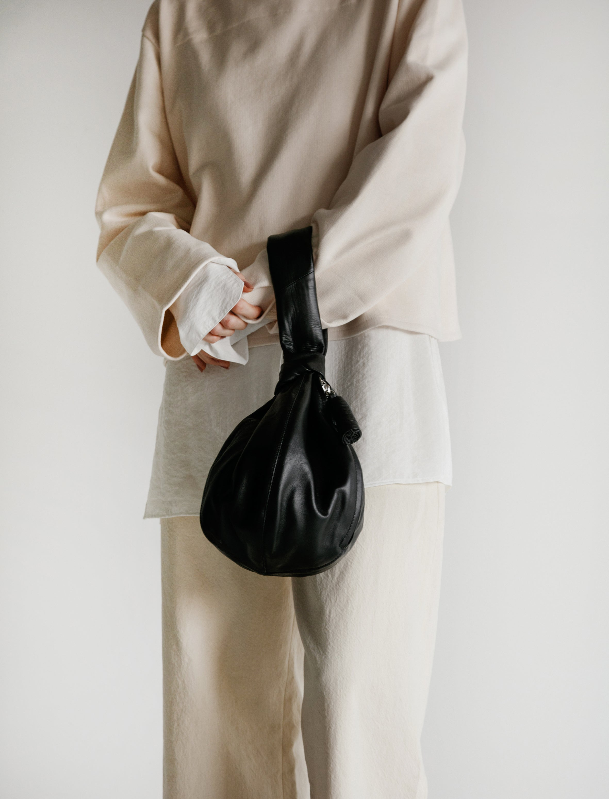 Lemaire Ball Purse Black