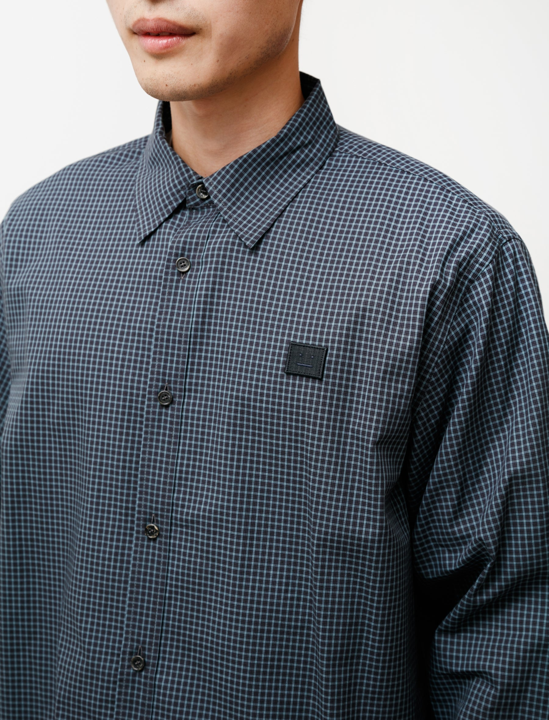 Acne Studios Relaxed Micro Check Shirt Face