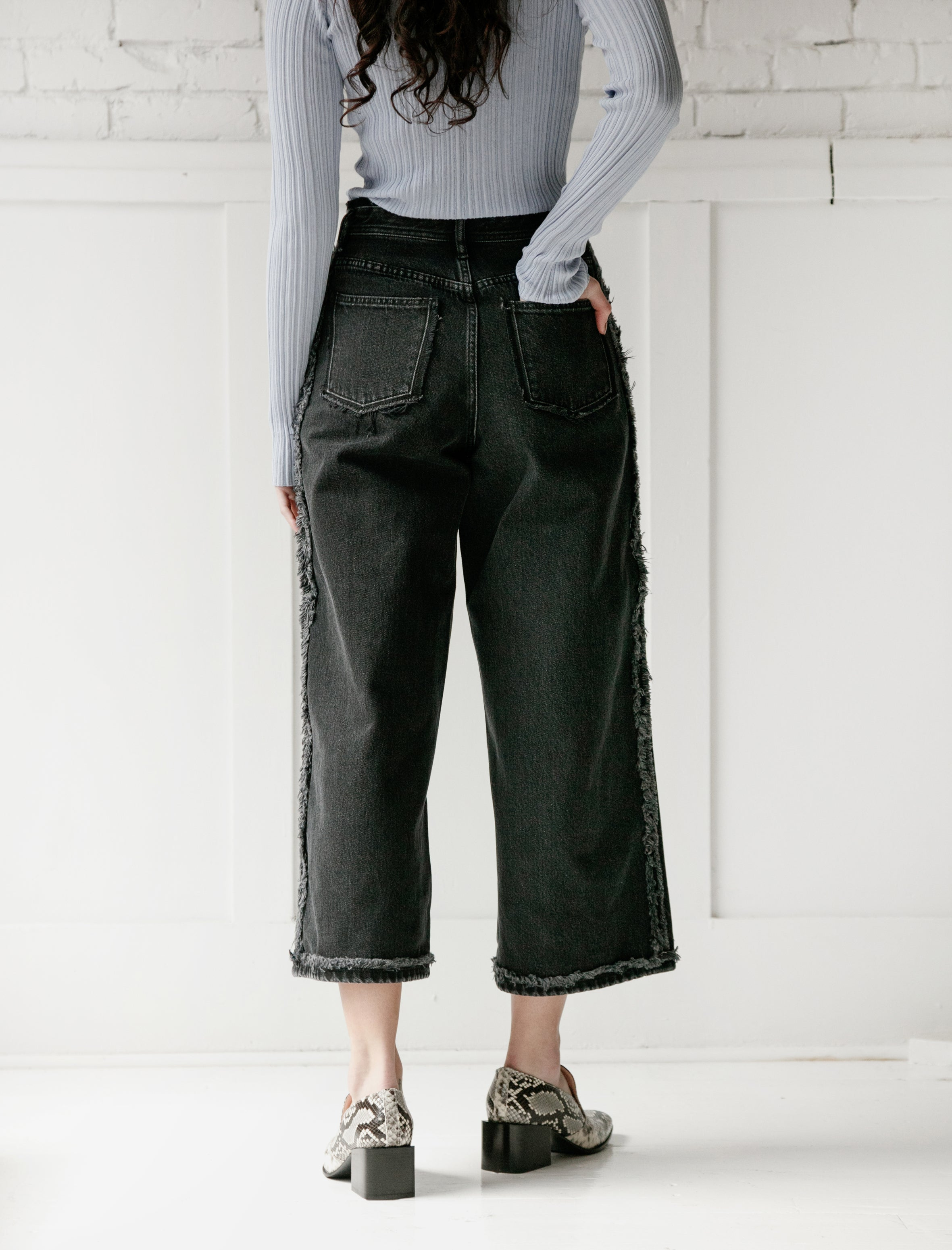 Acne Studios Phelina Denim Washed Black