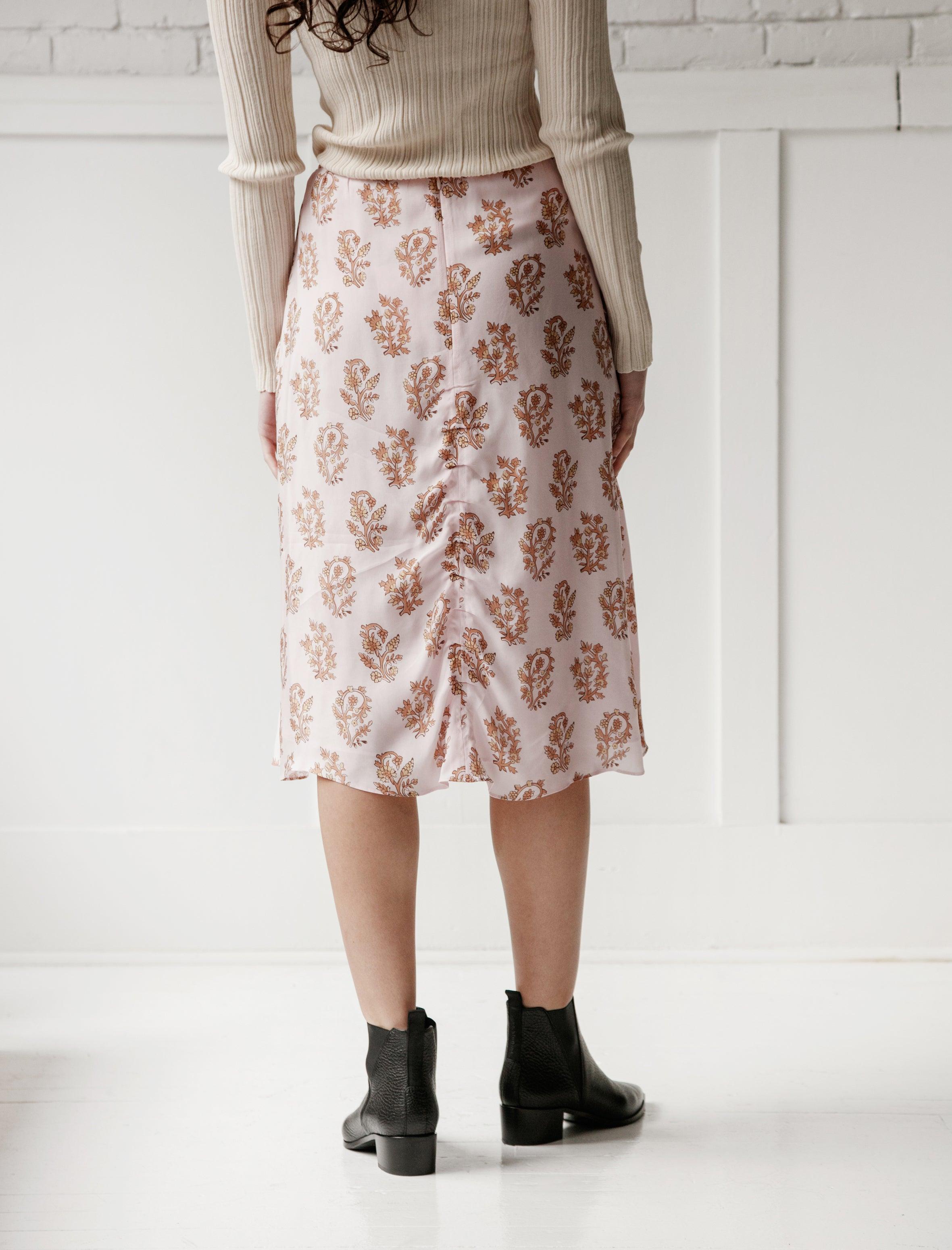 Acne Studios Iza Flower Skirt Pink/Orange