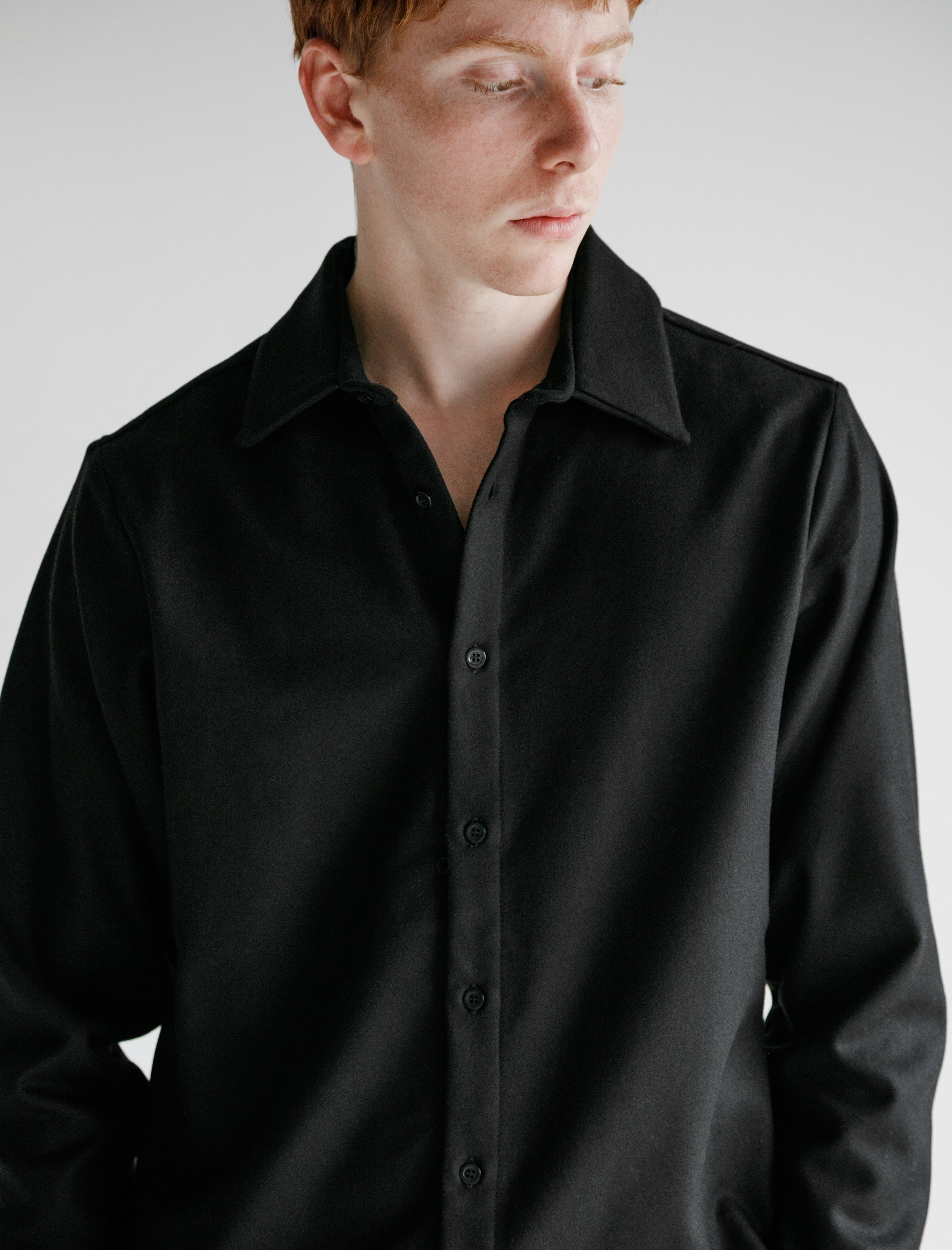 Wool Shirt with Copper Detail Archiv