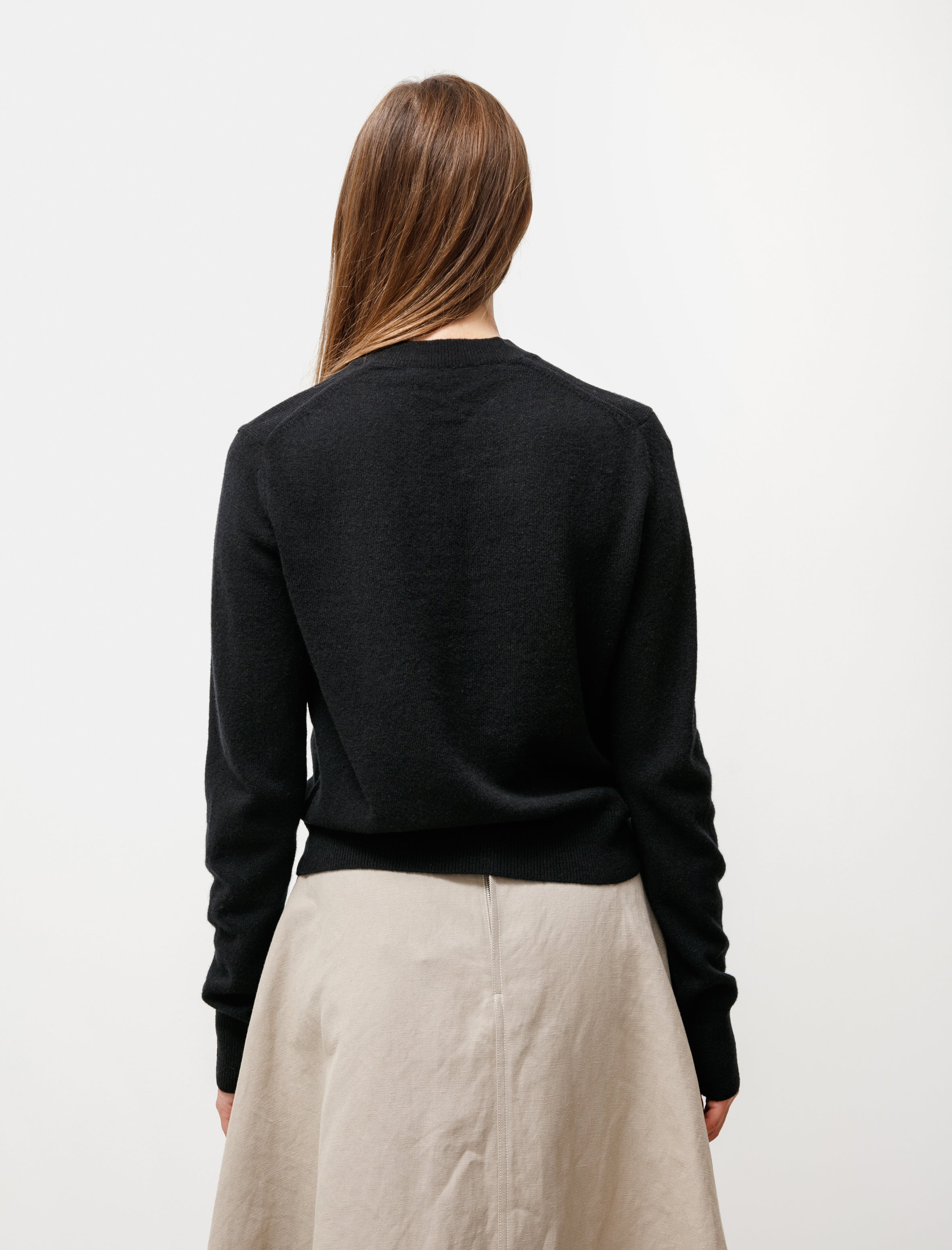 Acne Studios Fitted Cardigan Face Black