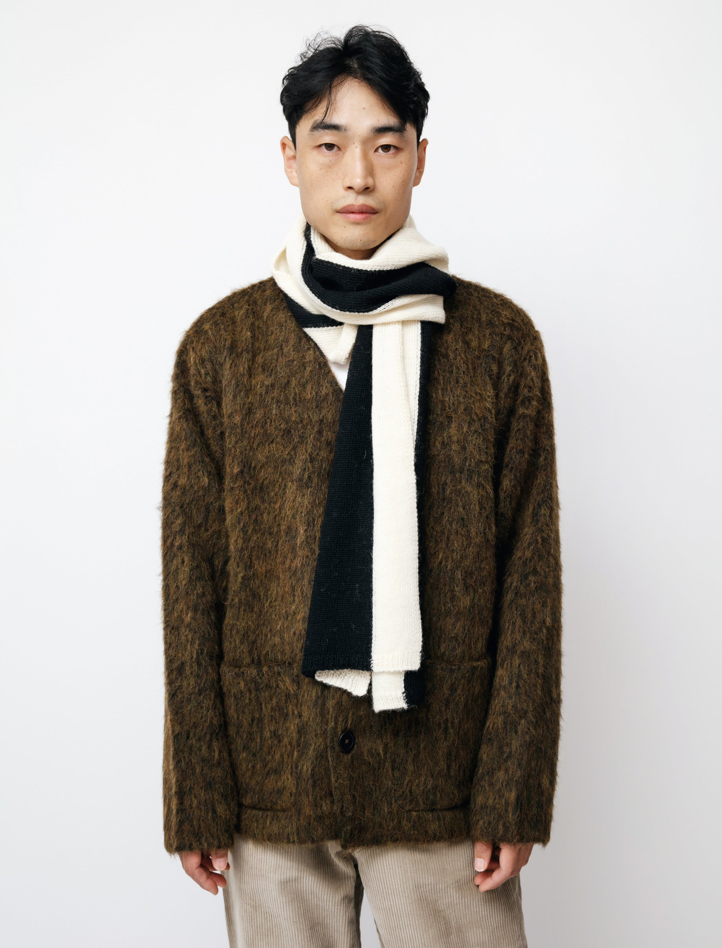 MHL Smock Neck SS Sweater Conker Brown