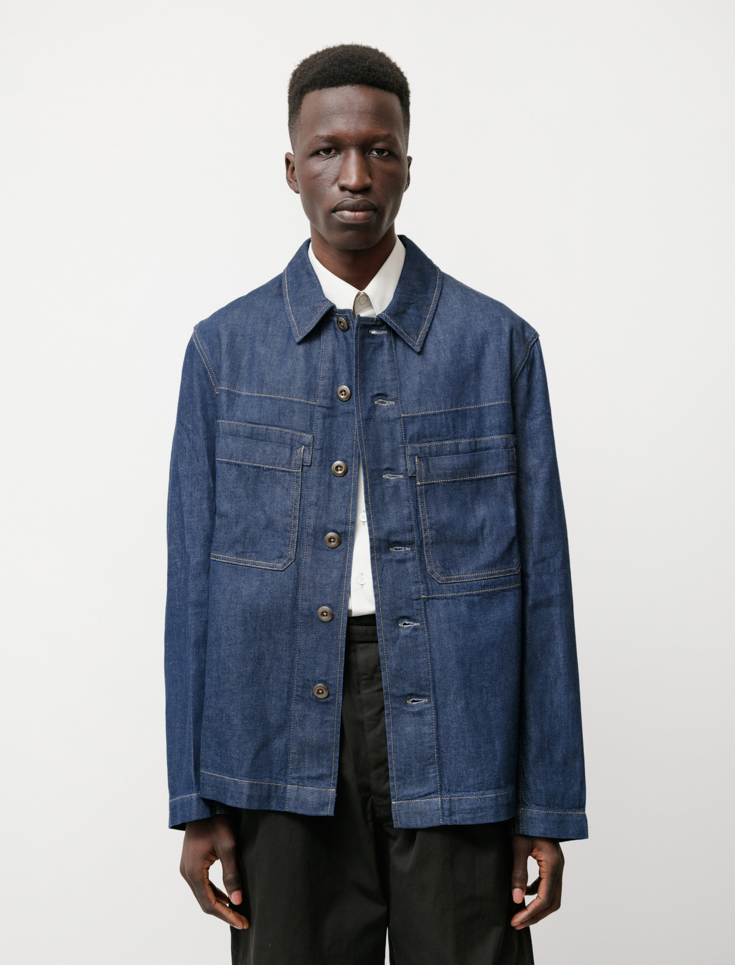 Lemaire Denim Workwear Overshirt Jean Blue