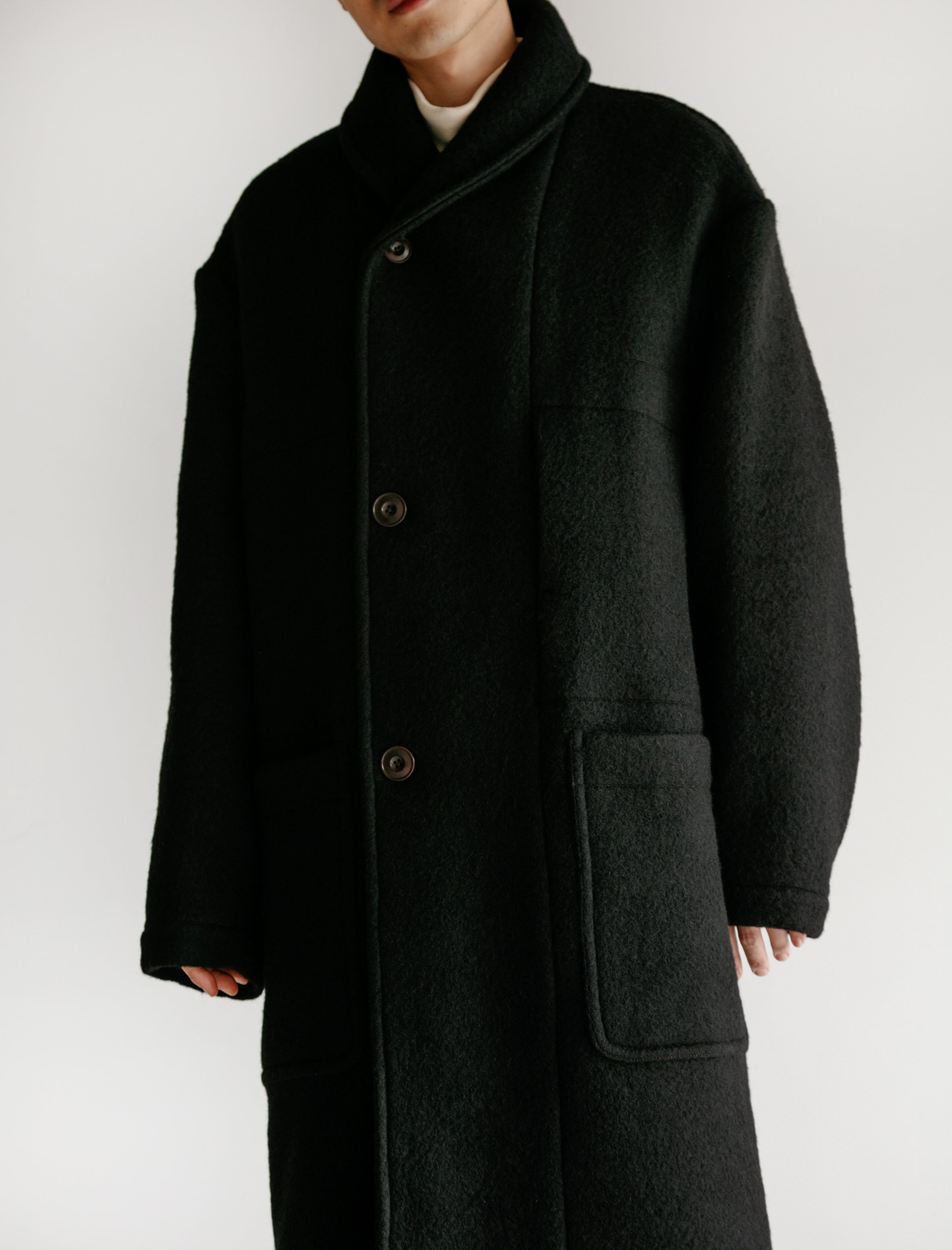Kaftan Melton Wool Black