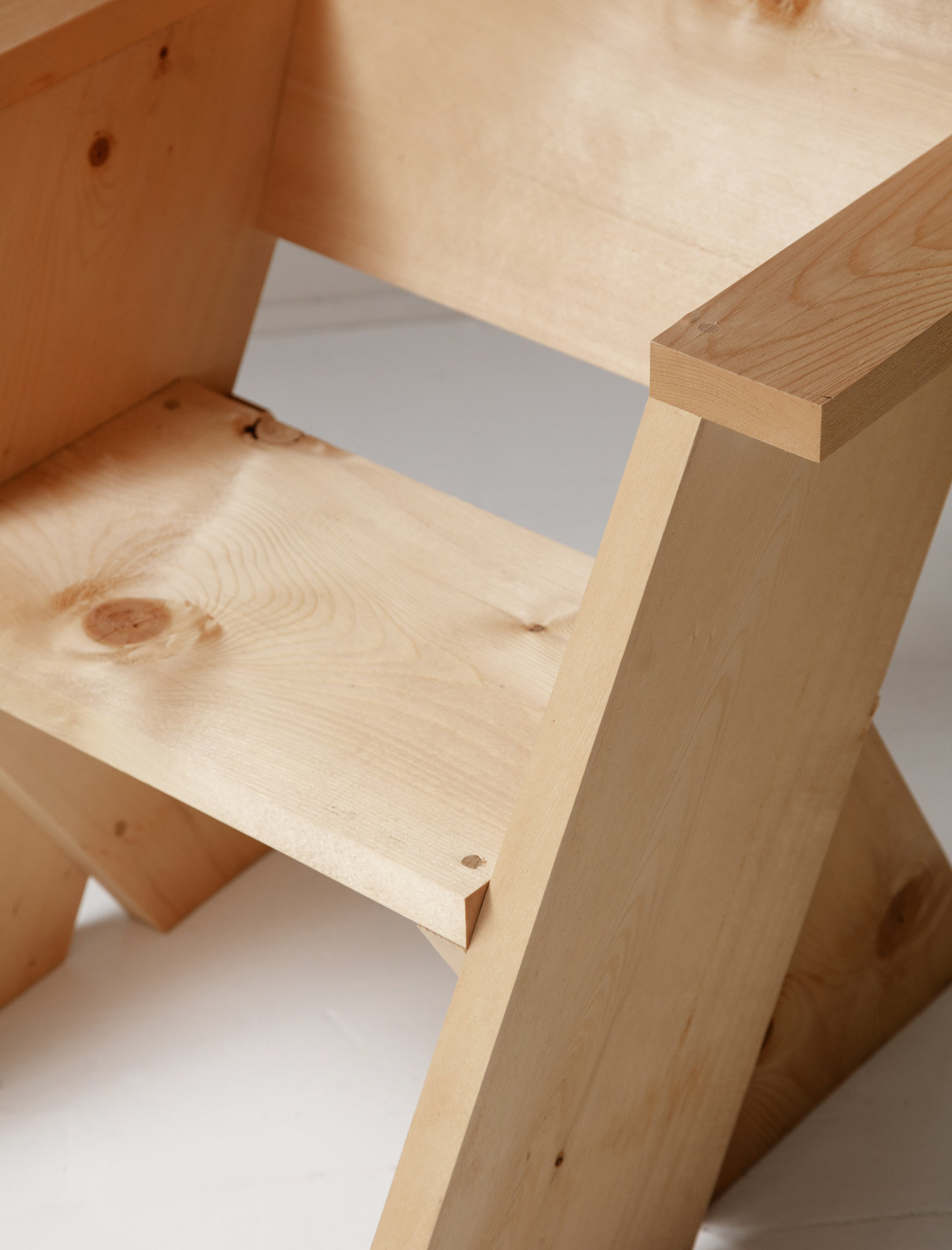 One Pine Board Chair