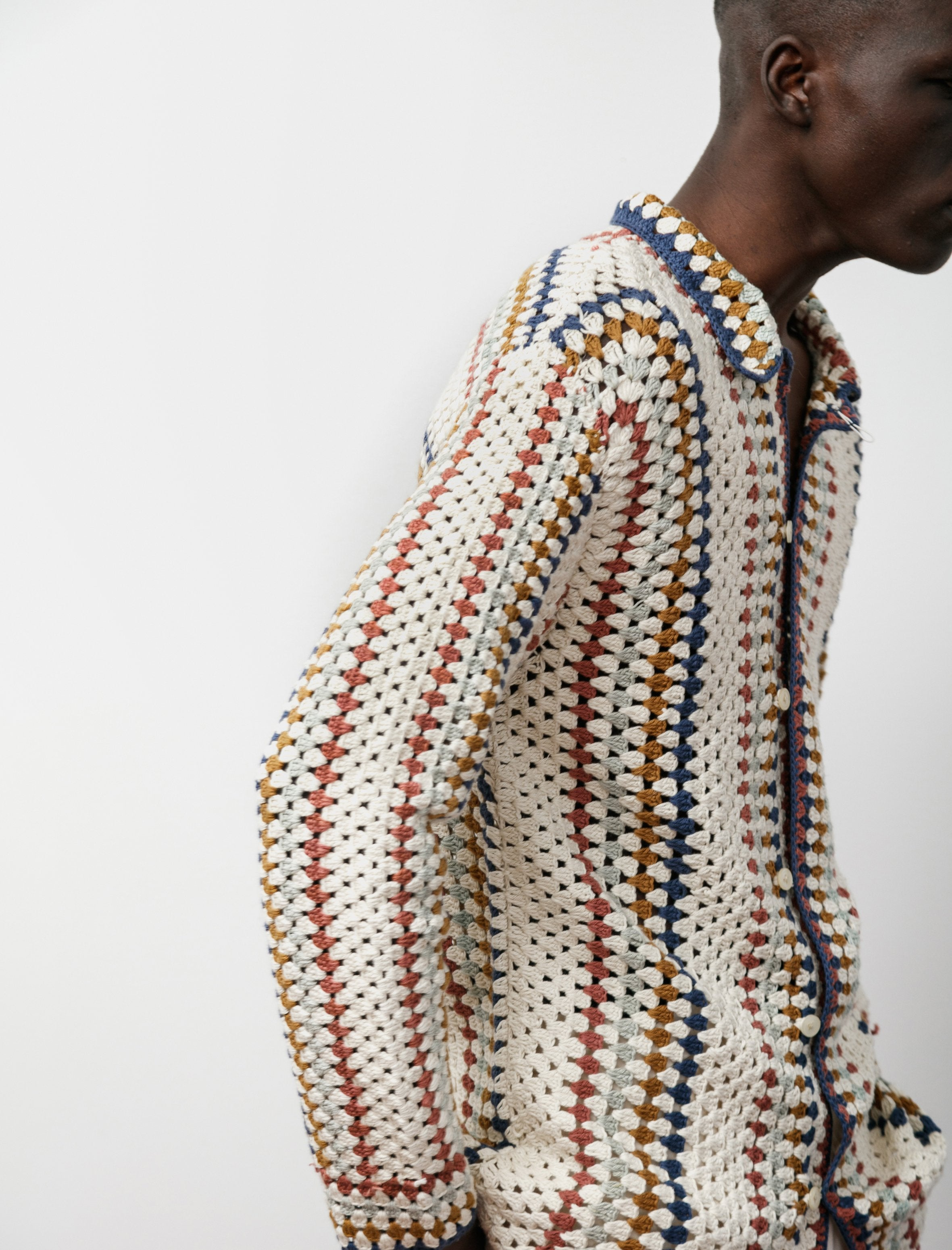 Bode Crochet Overshirt Multi