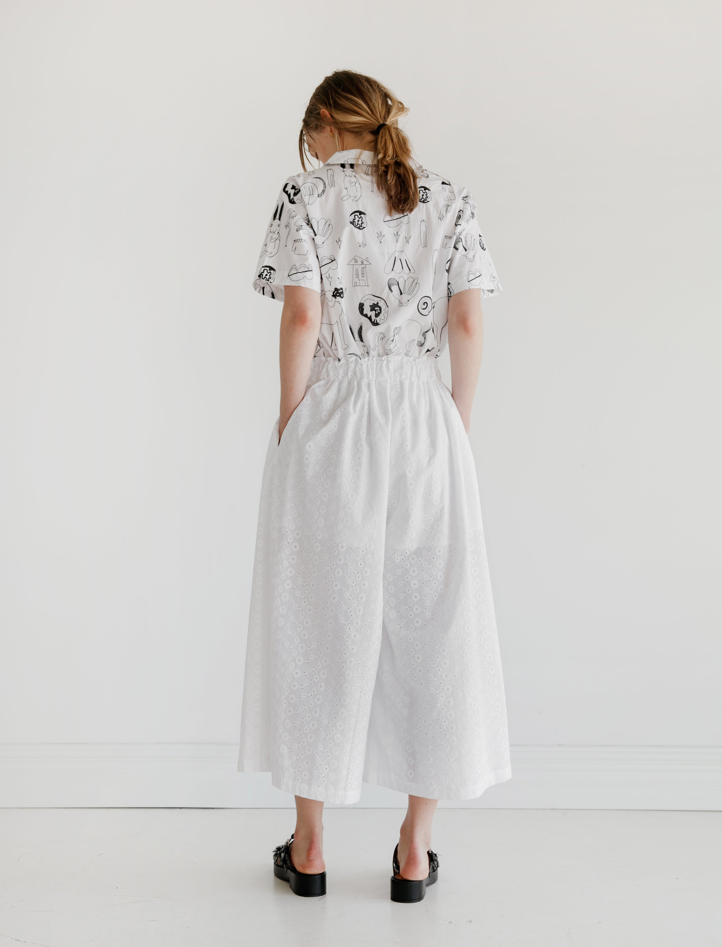 Shrimps Simone Trousers White Eyelet