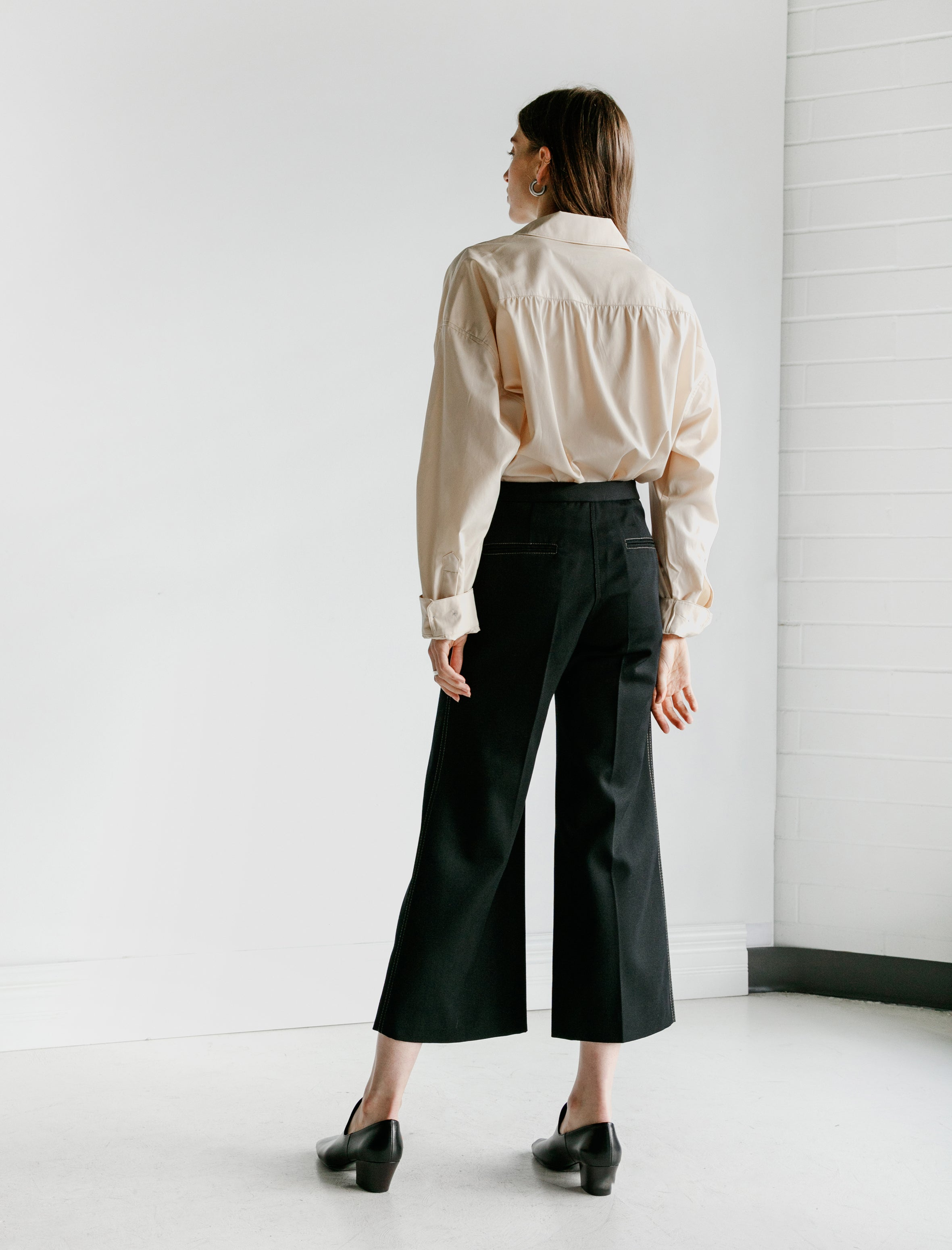 Lemaire Flared Pants Black
