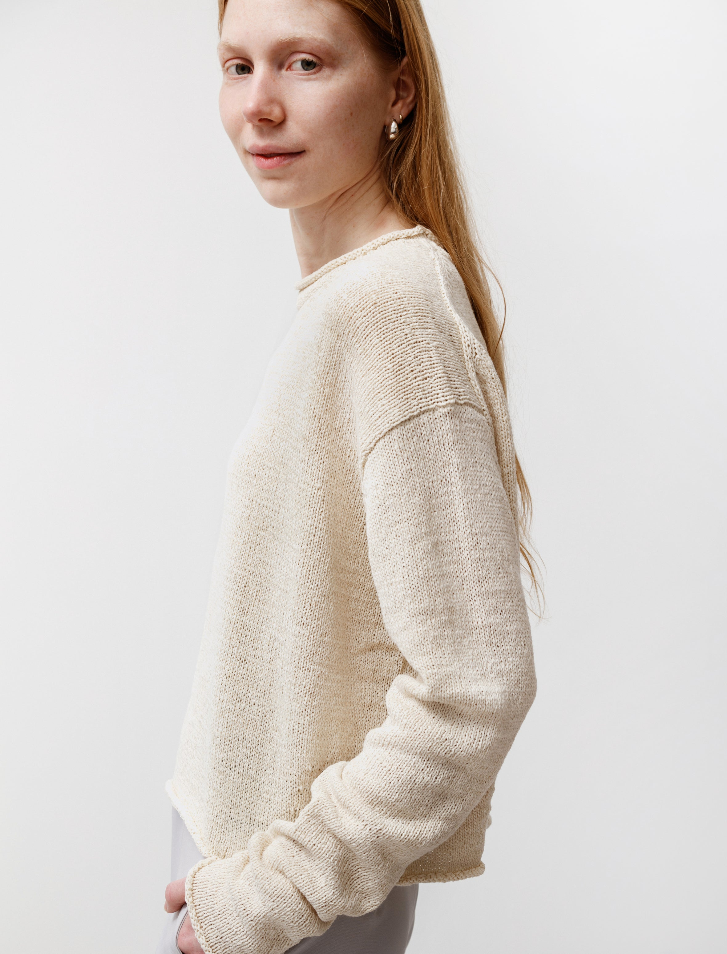 Studio Nicholson Ruiz Ribbon Knit Cream
