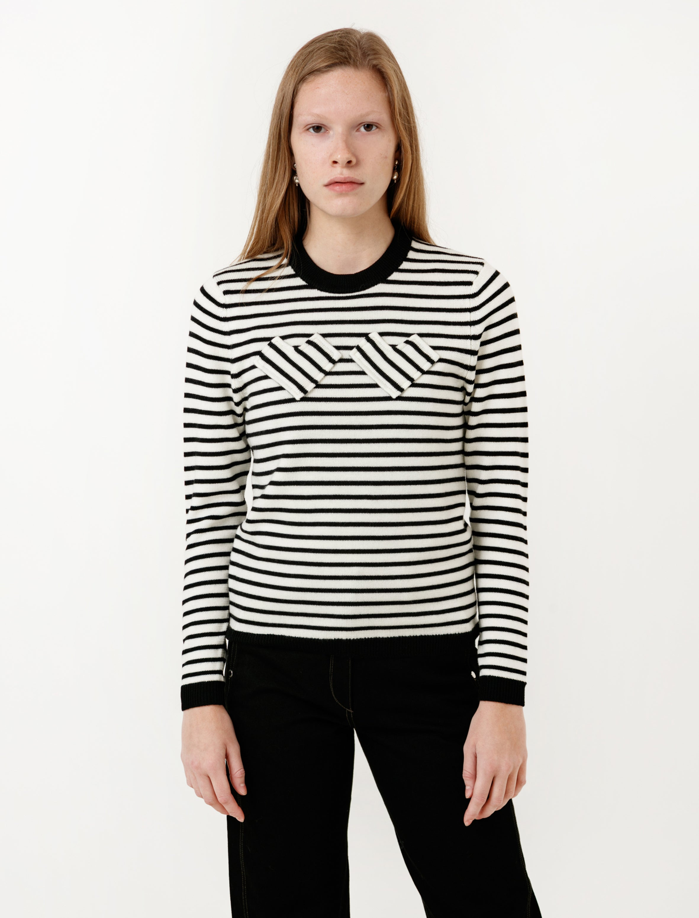Shrimps Nessa Hearts Jumper Black/Cream