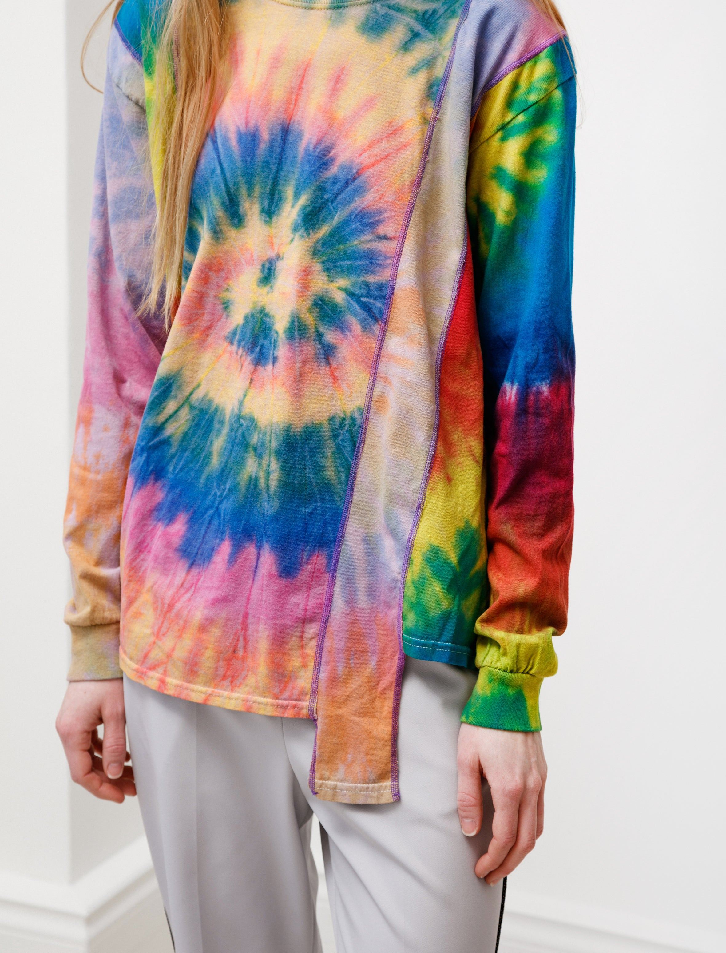 Needles Rebuild by Needles 5 Cuts Tie Dye LS